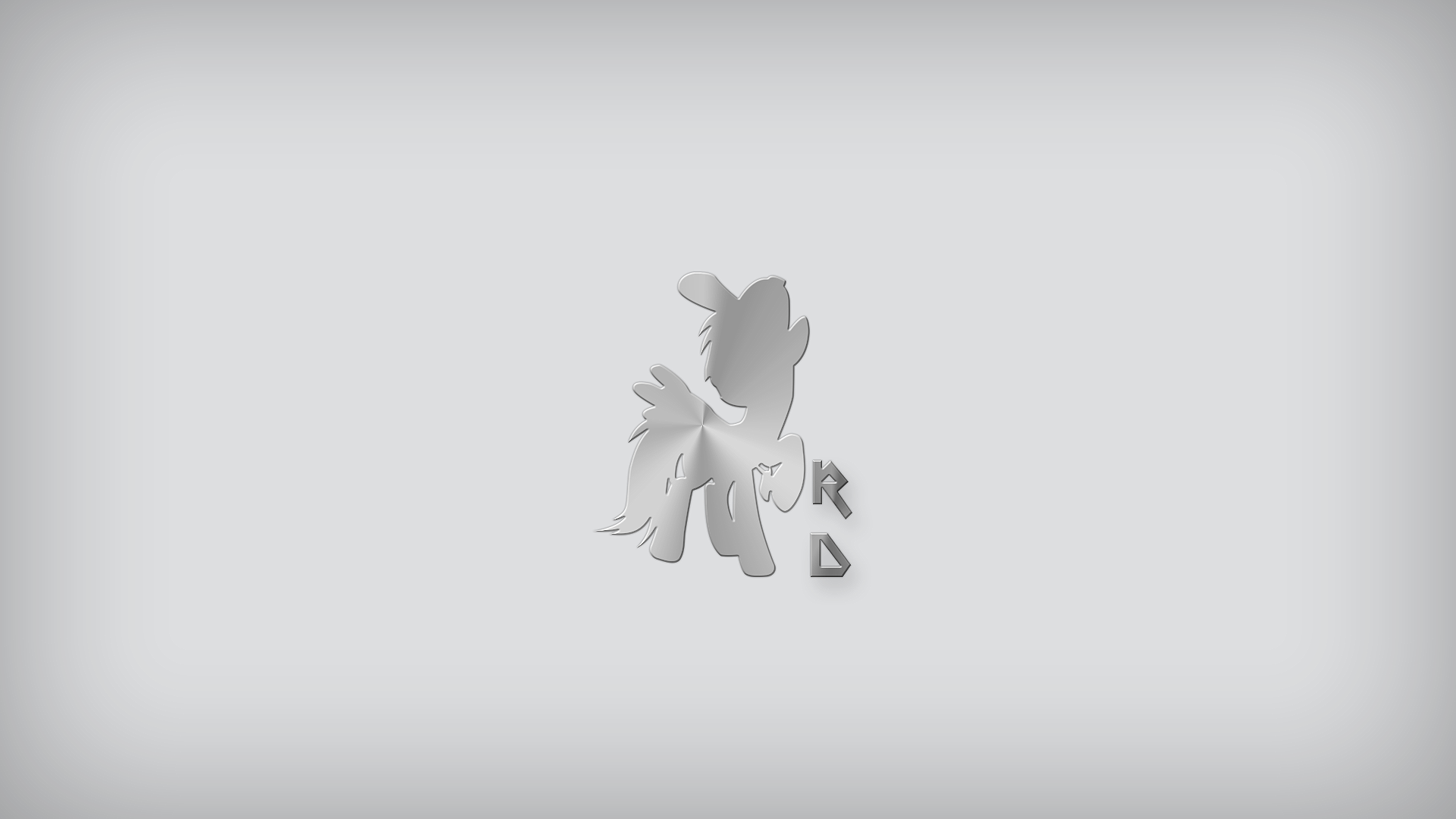 Rainbow Dash - Brushed Metal Type 2 by EphemeralBlue and Somepony