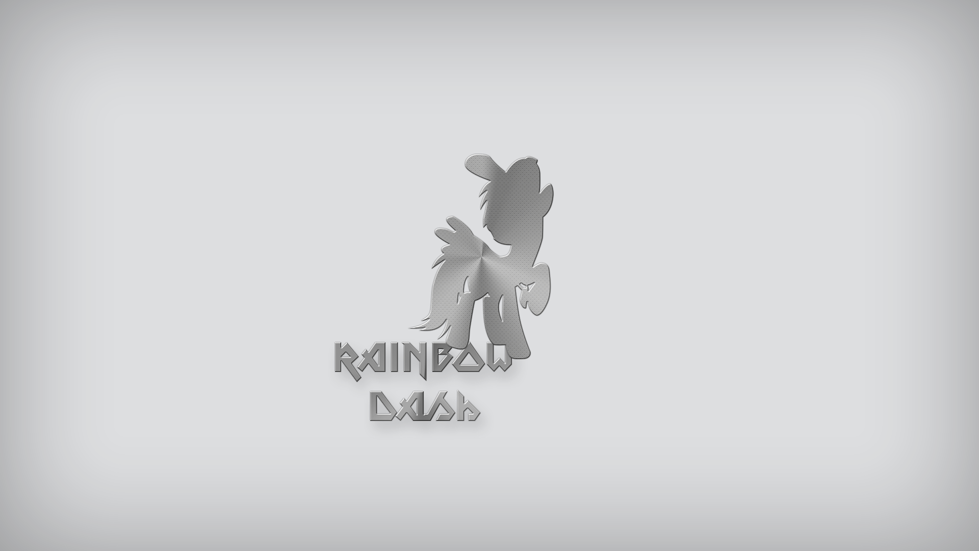 Rainbow Dash - Brushed Metal Type 3 by EphemeralBlue and Somepony
