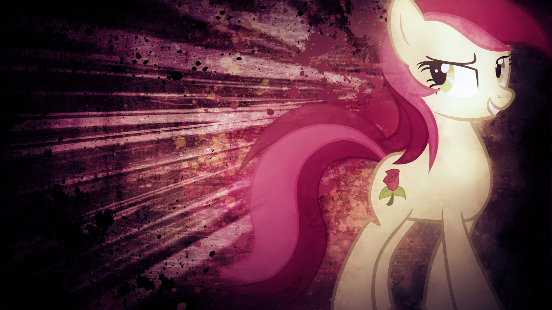 Smug Roseluck Wallpaper by Ocarina0fTimelord and SandwichDelta