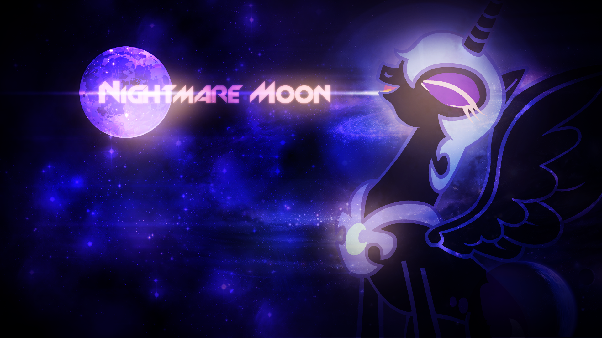 Nightmare Moon Wallpaper by SandwichDelta and Somepony