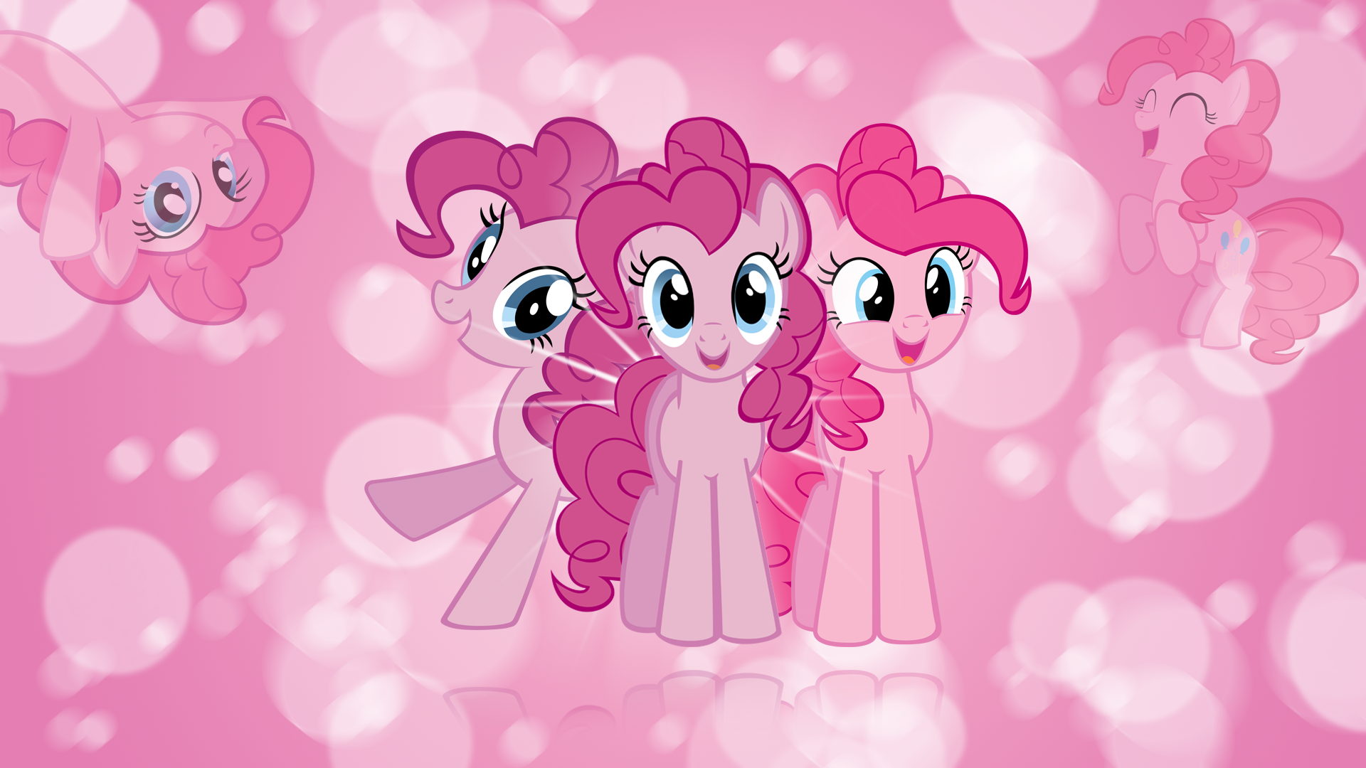 Pinkie Pie 'Bubbles!' Wallpaper by BlueDragonHans, kitsuneymg, Mihaaaa, Peachspices and Tigersoul96