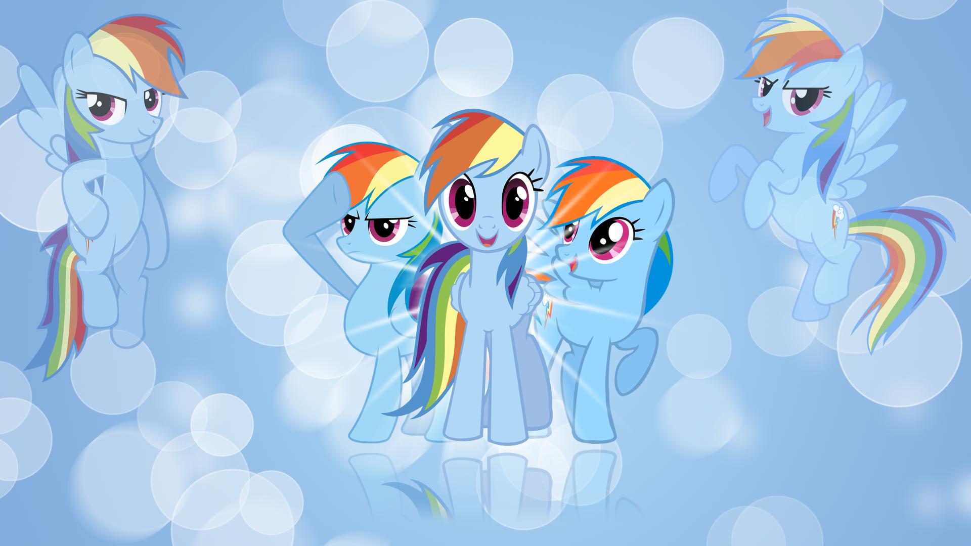 Rainbow Dash 'Bubbles!' Wallpaper by BlueDragonHans, CSMLP, kitsuneymg, MaximillianVeers, Nethear and Squirrel734