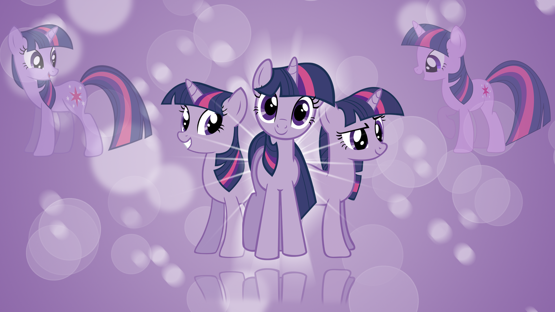 Twilight Sparkle 'Bubbles!' Wallpaper by aeroyTechyon-X, Bl1ghtmare, BlueDragonHans, HankOfficer, kitsuneymg and Peachspices