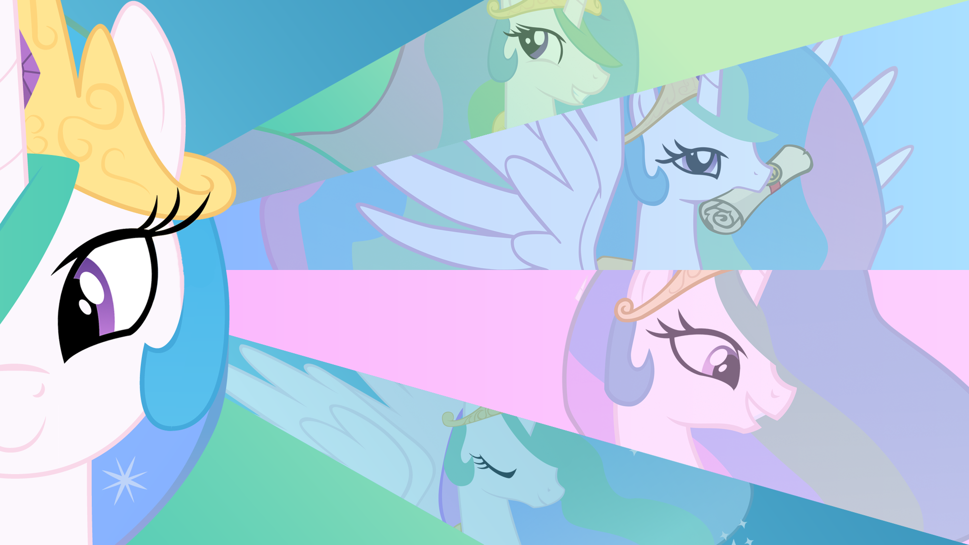 Princess Celestia Wallpaper by Blackm3sh, BlueDragonHans, Jamy-Jamy, Juicy-Cactus, KeinZantezuken and Vexorb