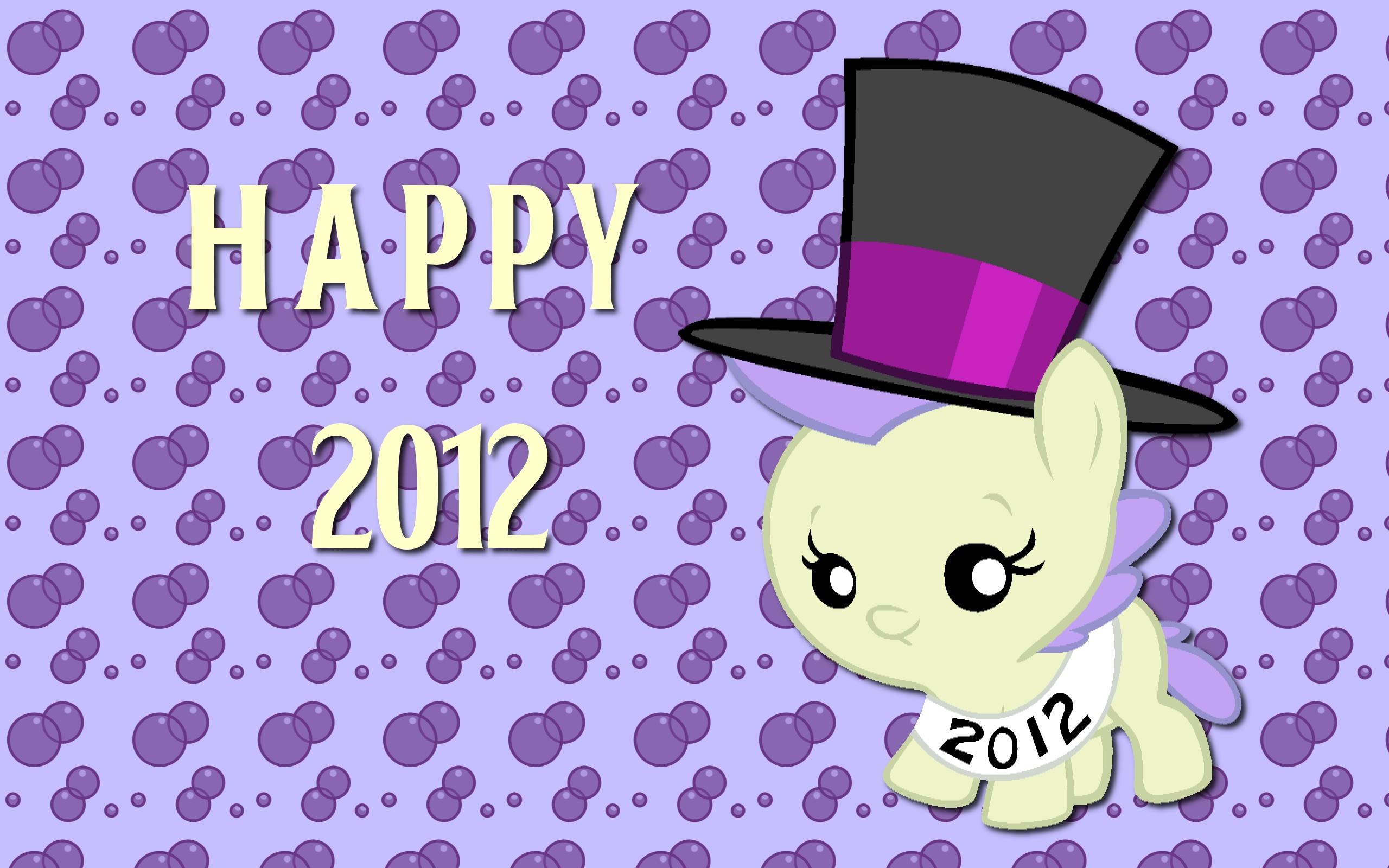 Happy 2012 Cream Puff WP by AliceHumanSacrifice0 and Bronyboy