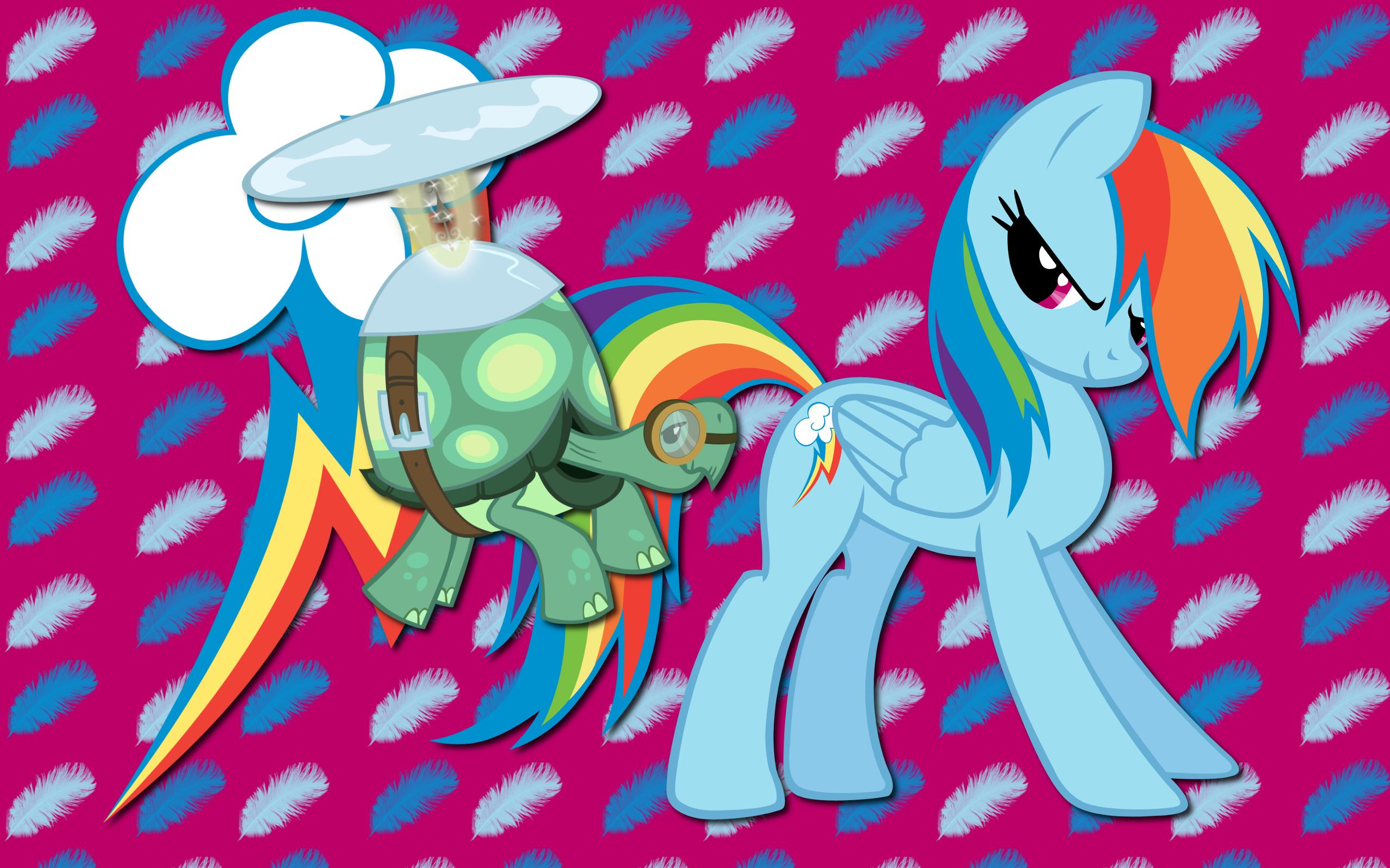 Rainbow Dash and Tank WP by AliceHumanSacrifice0, BlackGryph0n, Shelmo69 and SierraEx