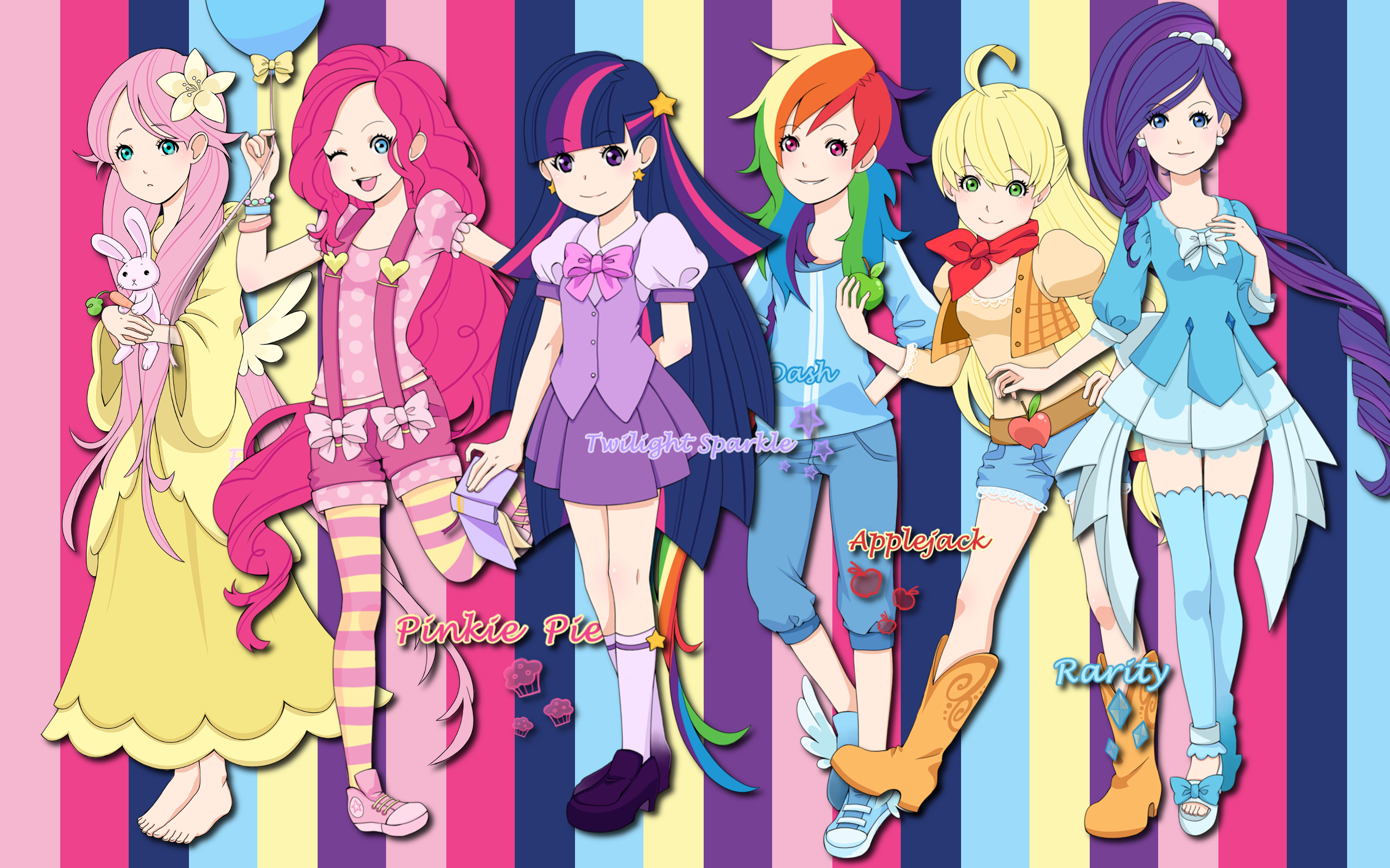 Human Ponies WP by AliceHumanSacrifice0 and Lilacinum