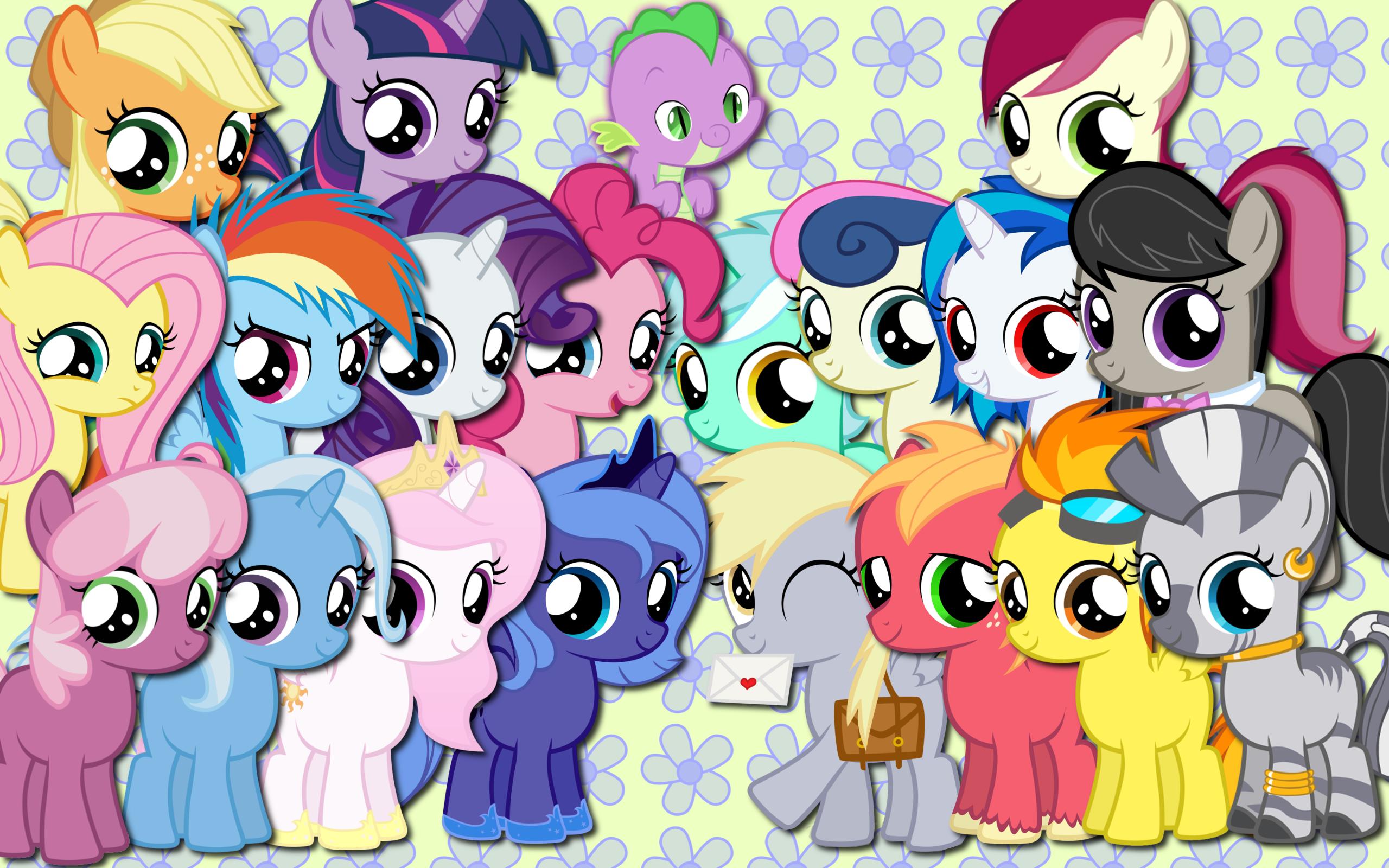 Foals are magic wallpaper by AliceHumanSacrifice0, AtomicGreymon, binaryNinj4, Blackm3sh, MoongazePonies and YooMe