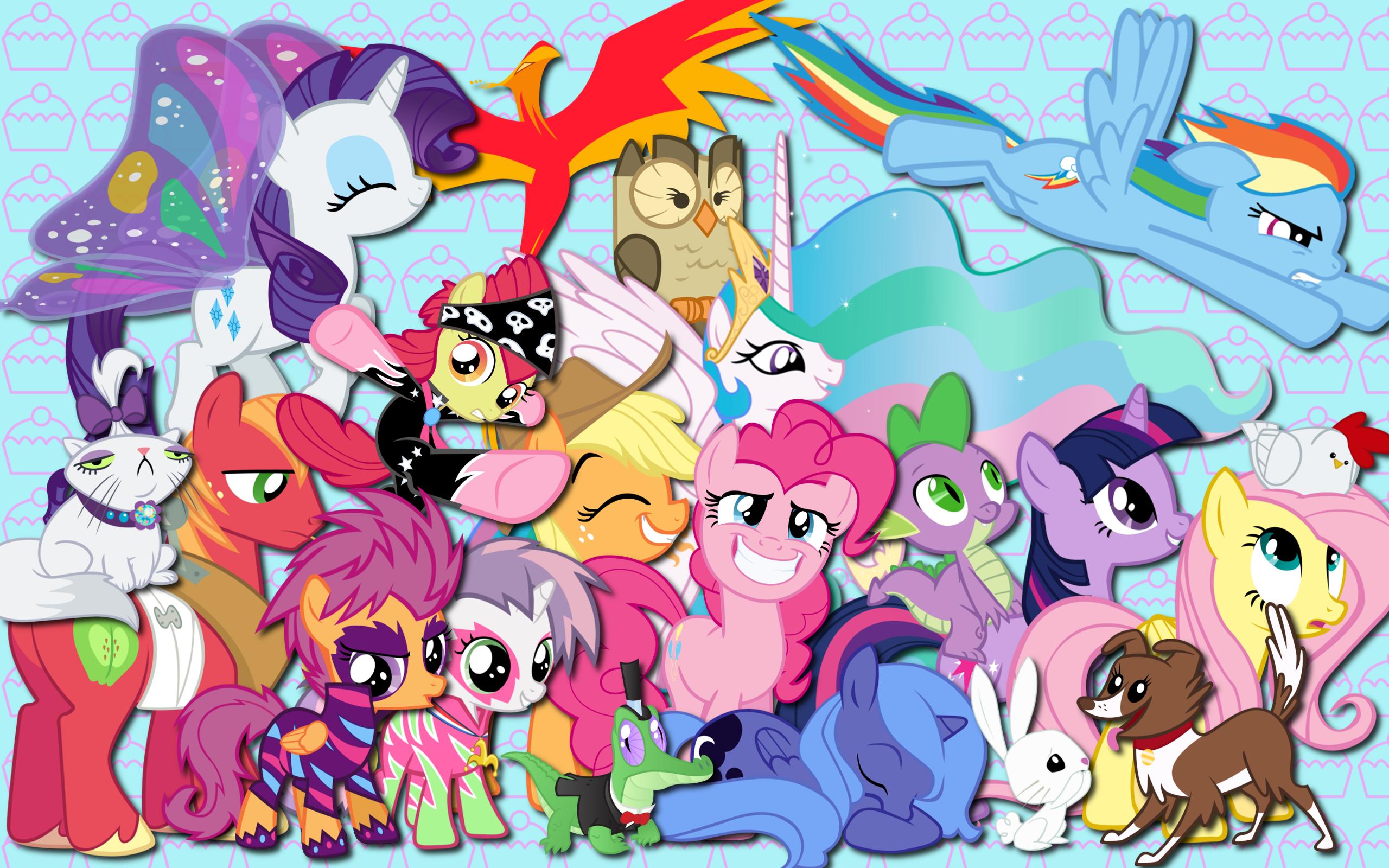 Main ponies and friends WP by Alexstrazse, AliceHumanSacrifice0, AtomicGreymon, Felix-KoT, kurokaji11, metalbeersolid, MoongazePonies, NightmareMoonS, purplefairy456, Shelmo69, solusjbj, SpittiePie and WraithX79
