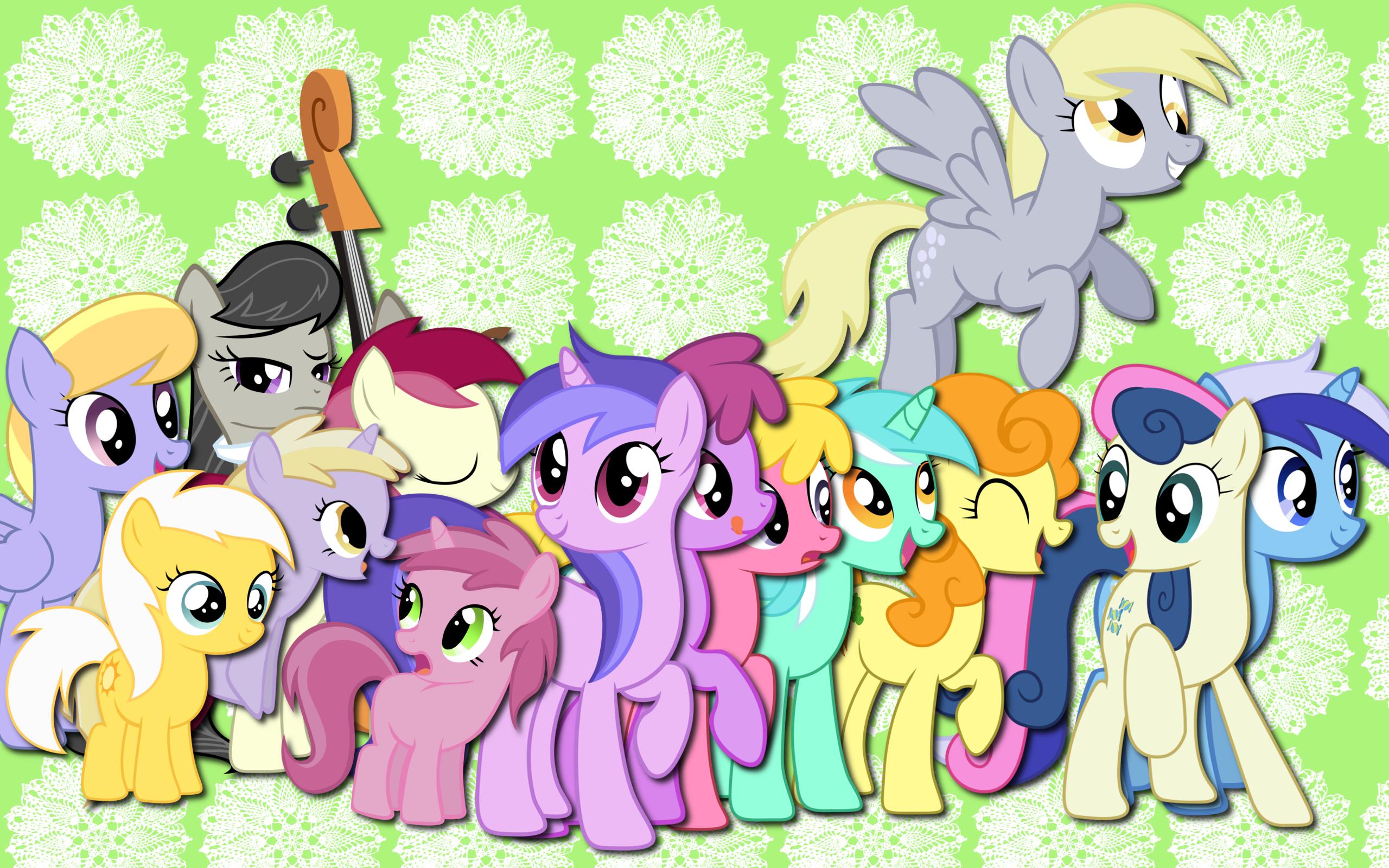 Background ponies WP by AliceHumanSacrifice0, Kooner-cz, MaximillianVeers, MoongazePonies, SierraEx and Takua770