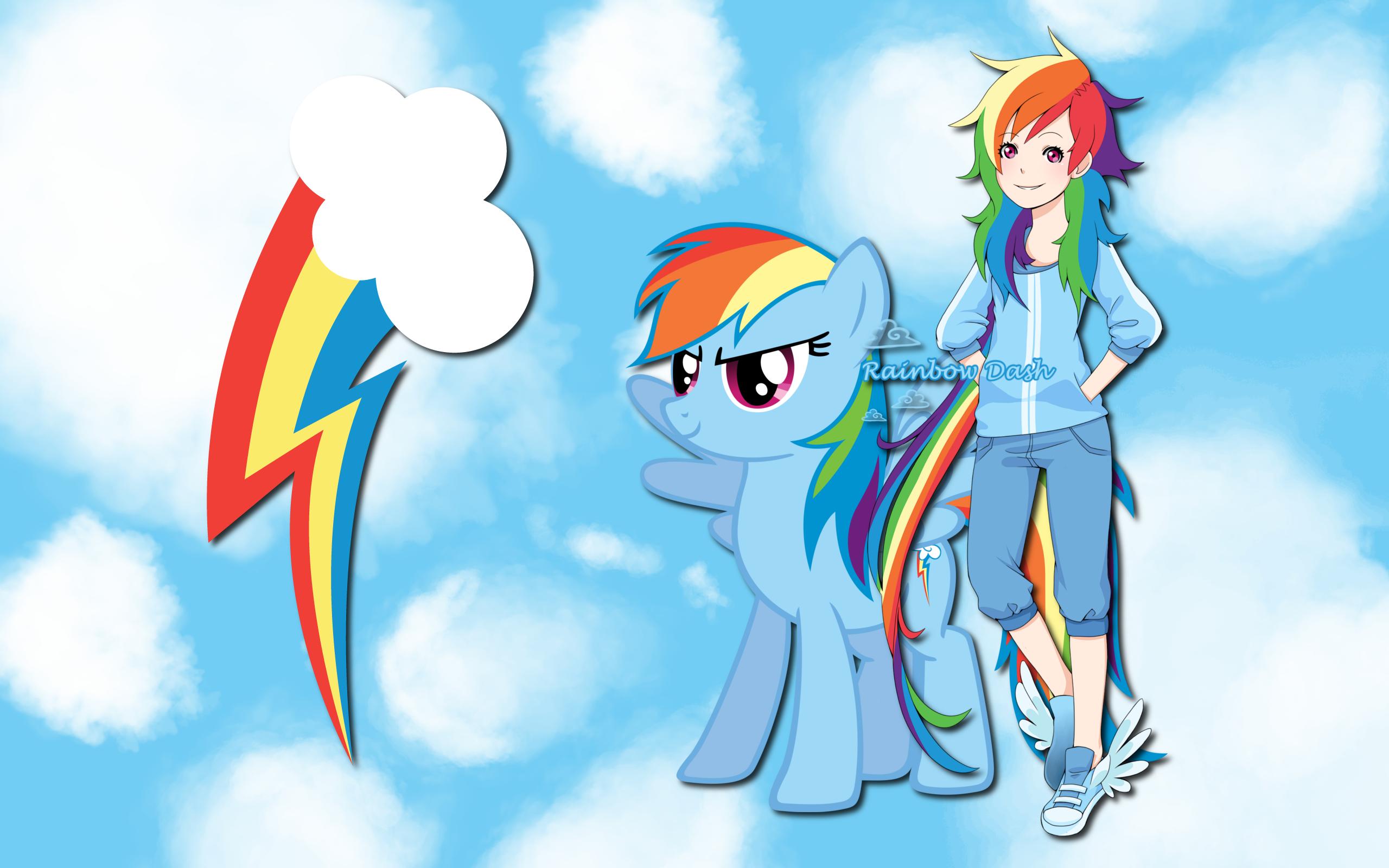 Human Rainbow Dash WP by AliceHumanSacrifice0, Lilacinum, MoongazePonies and ooklah