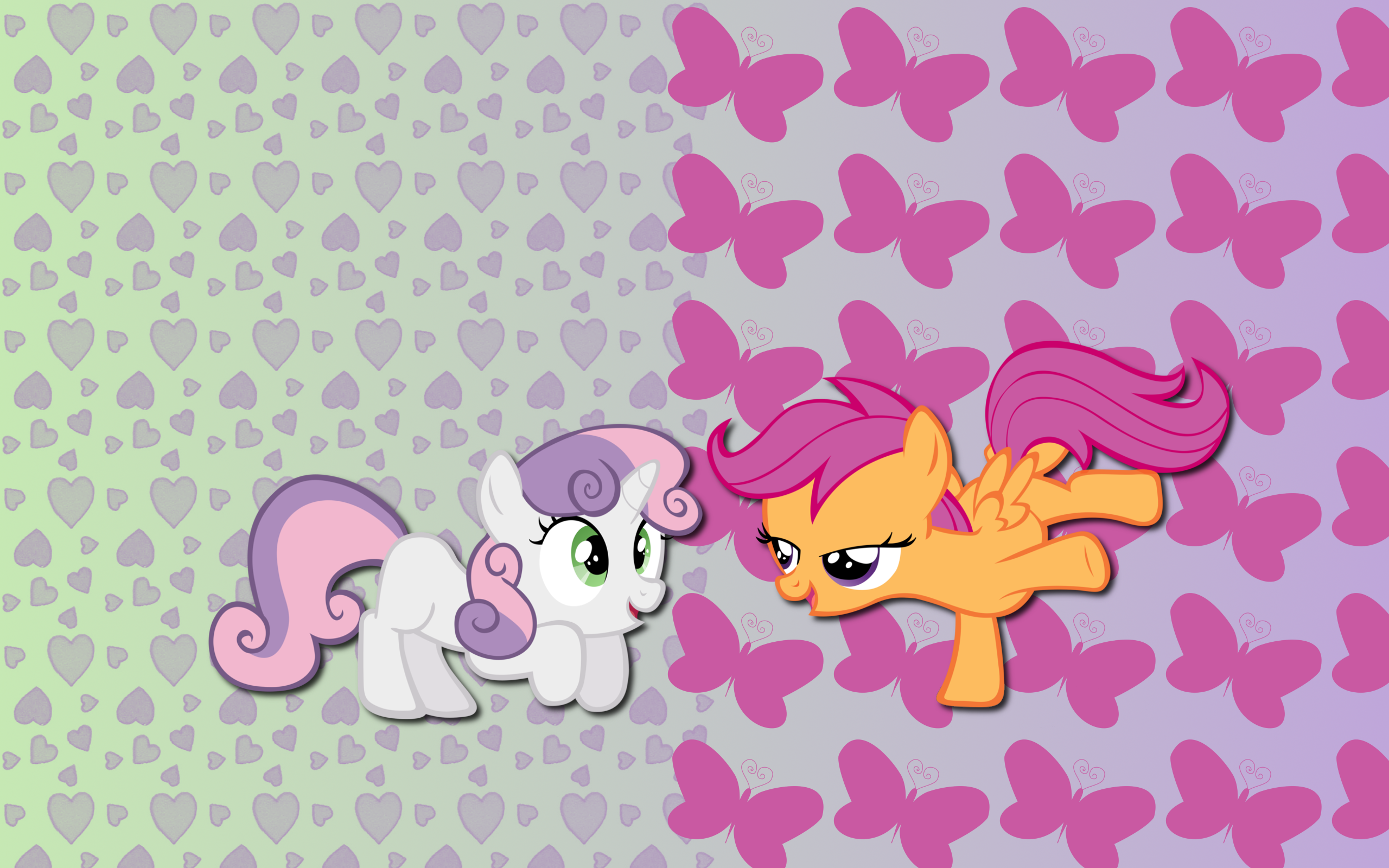 ScootaBelle wallpaper by AliceHumanSacrifice0, M99moron and Spaceponies