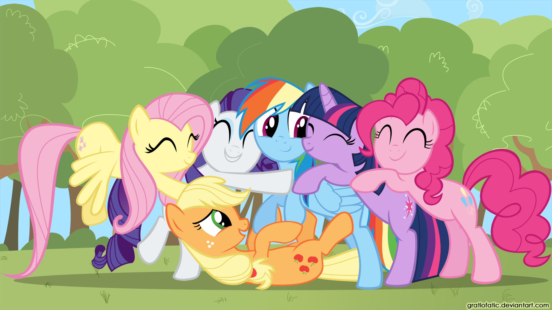 Group Hug By Gratlofatic My Little Pony My Little Wallpaper