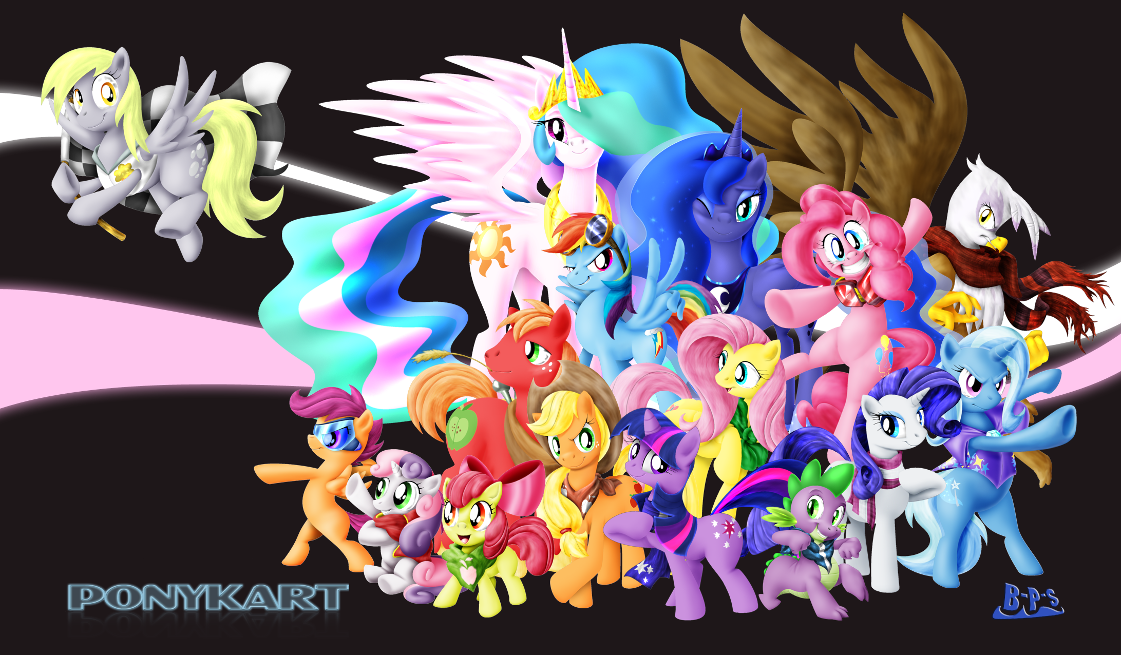 PonyKart Character Wallpaper by Blue-Paint-Sea