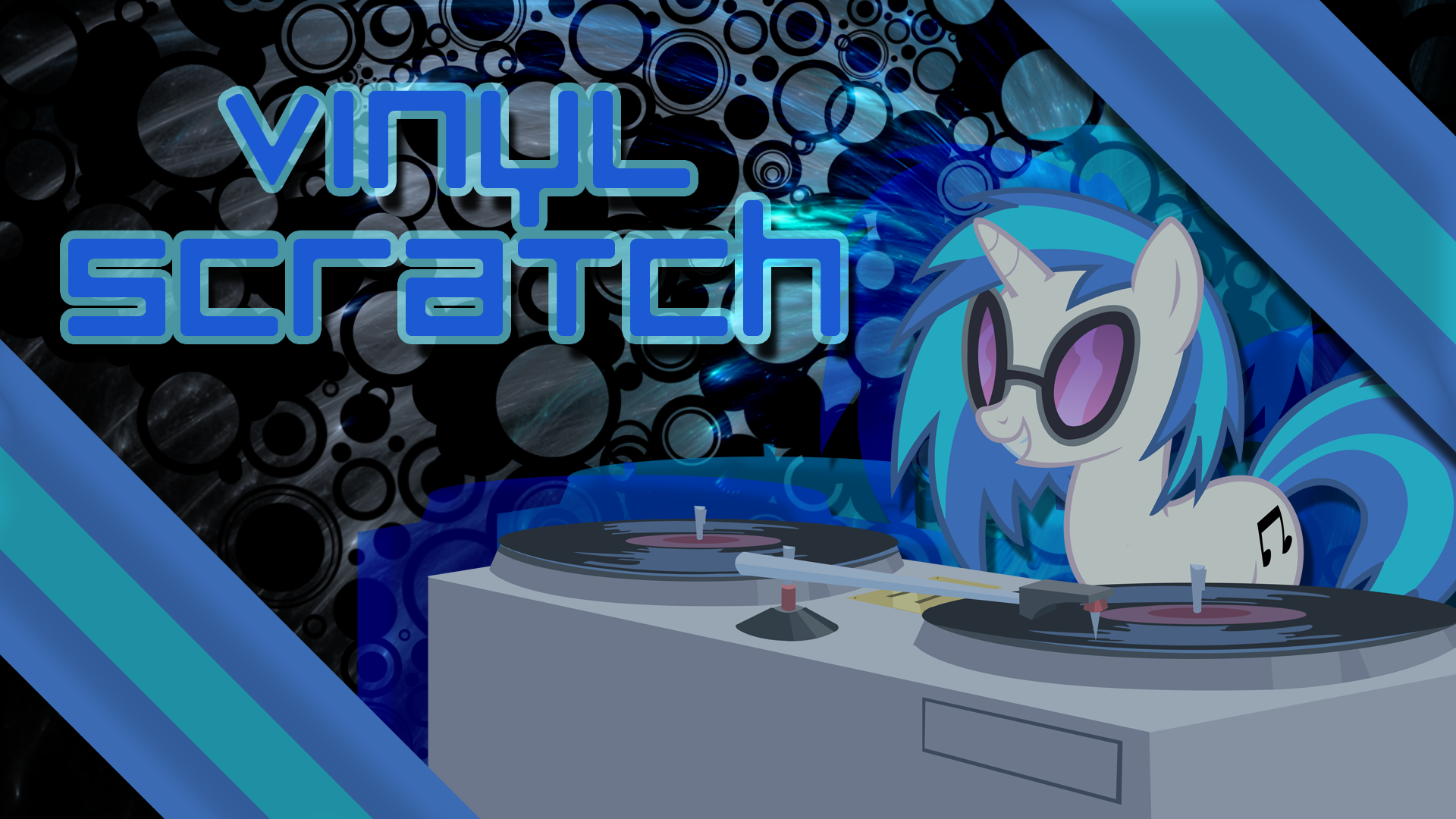 Vinyl Scratch Wallpaper by AK71 and Fiftyniner