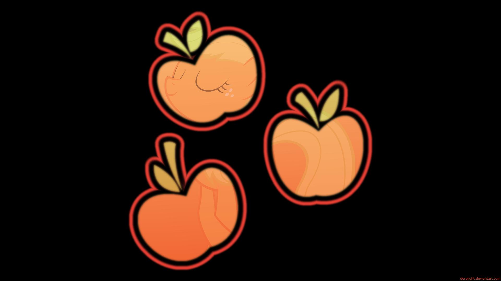 Applejack's Cutie Mark Wallpaper by BlackGryph0n, DerpLight and Qsteel