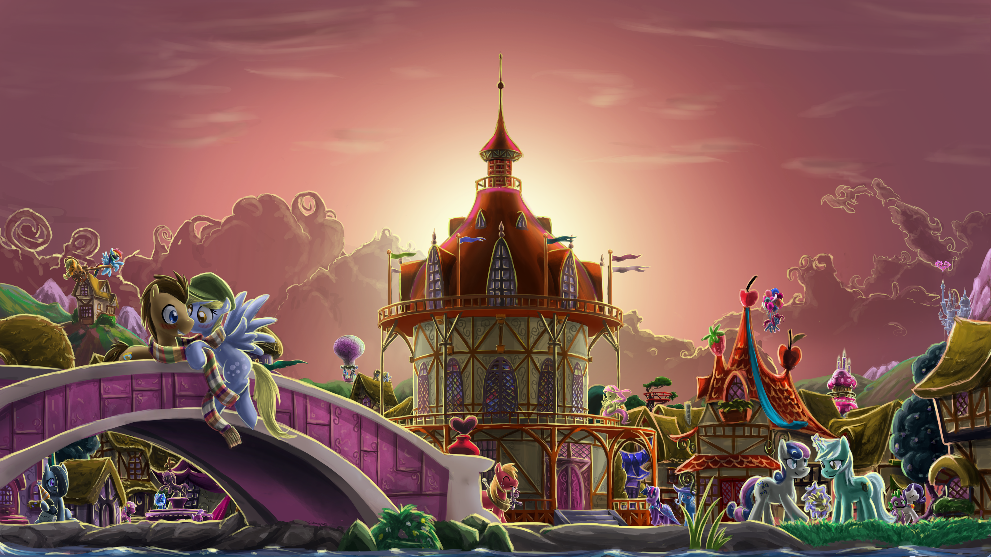 Eternal Sunshine of the Loveliness Town by saturnspace