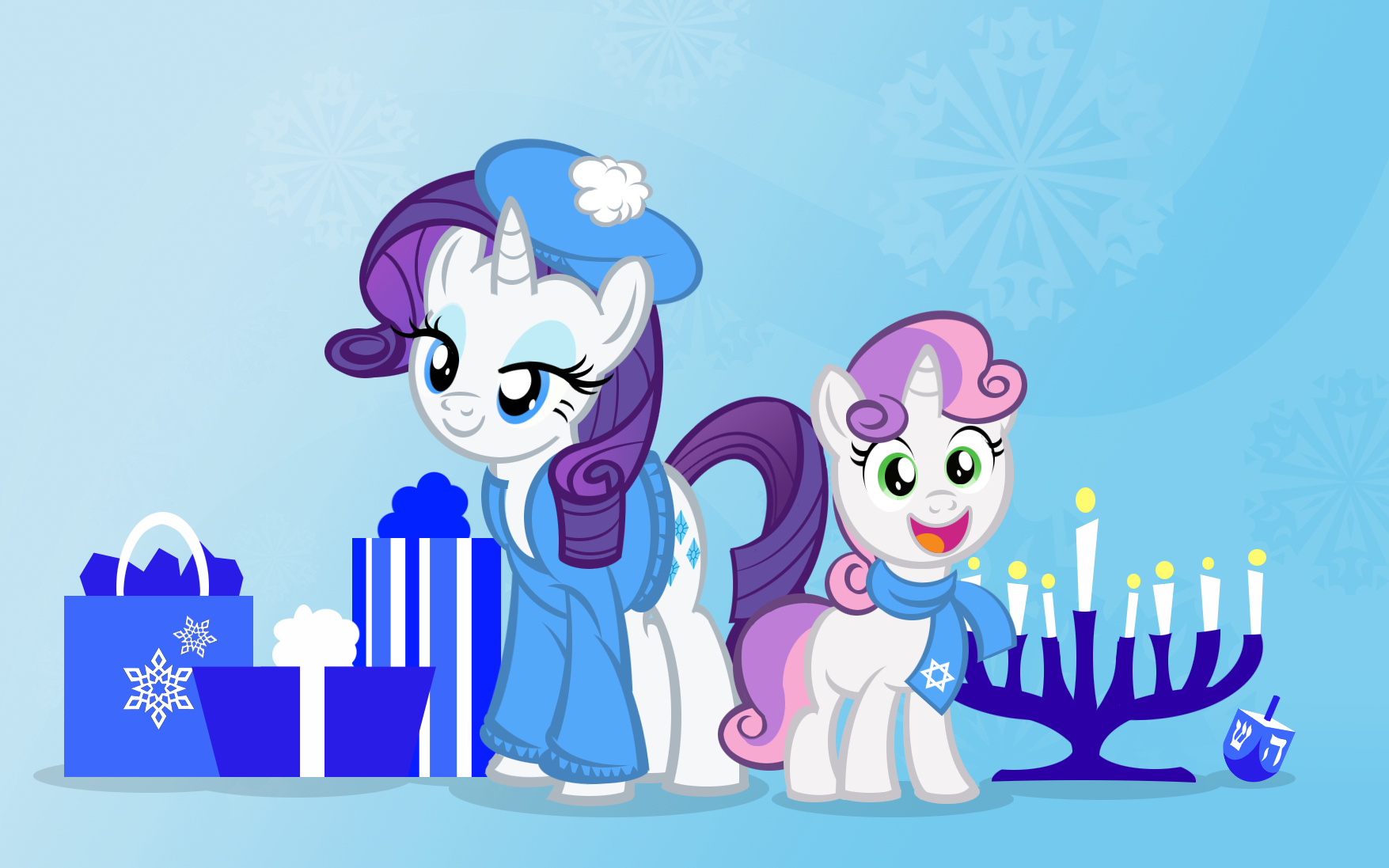 Hanukkah Ponies Two by PixelKitties