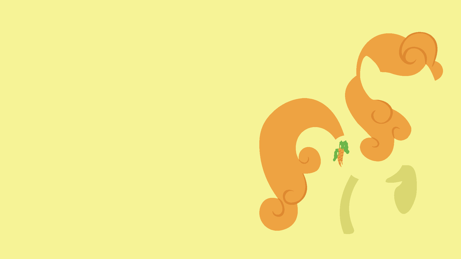 Carrot Top Minimalistic Wallpaper by Kitana-Coldfire and Kna