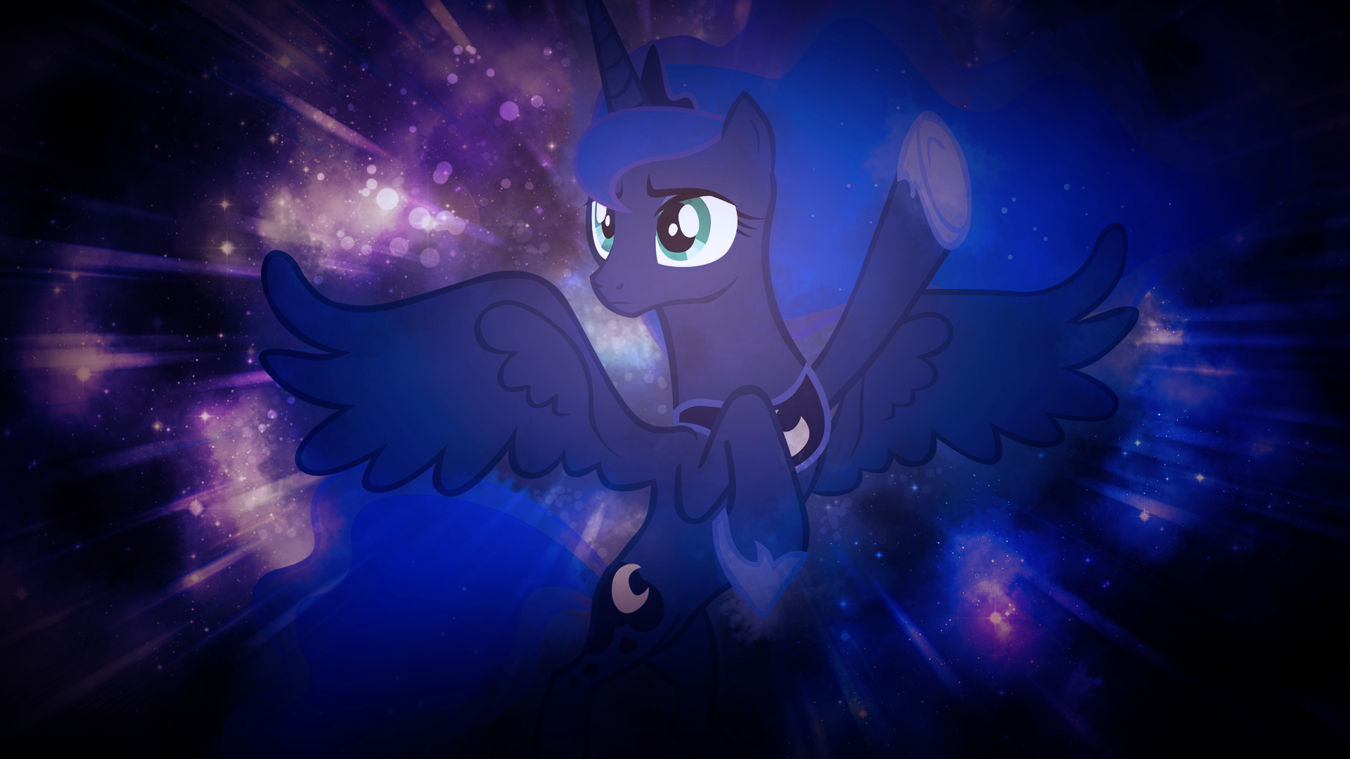 Luna in Space by SandwichDelta and Somepony