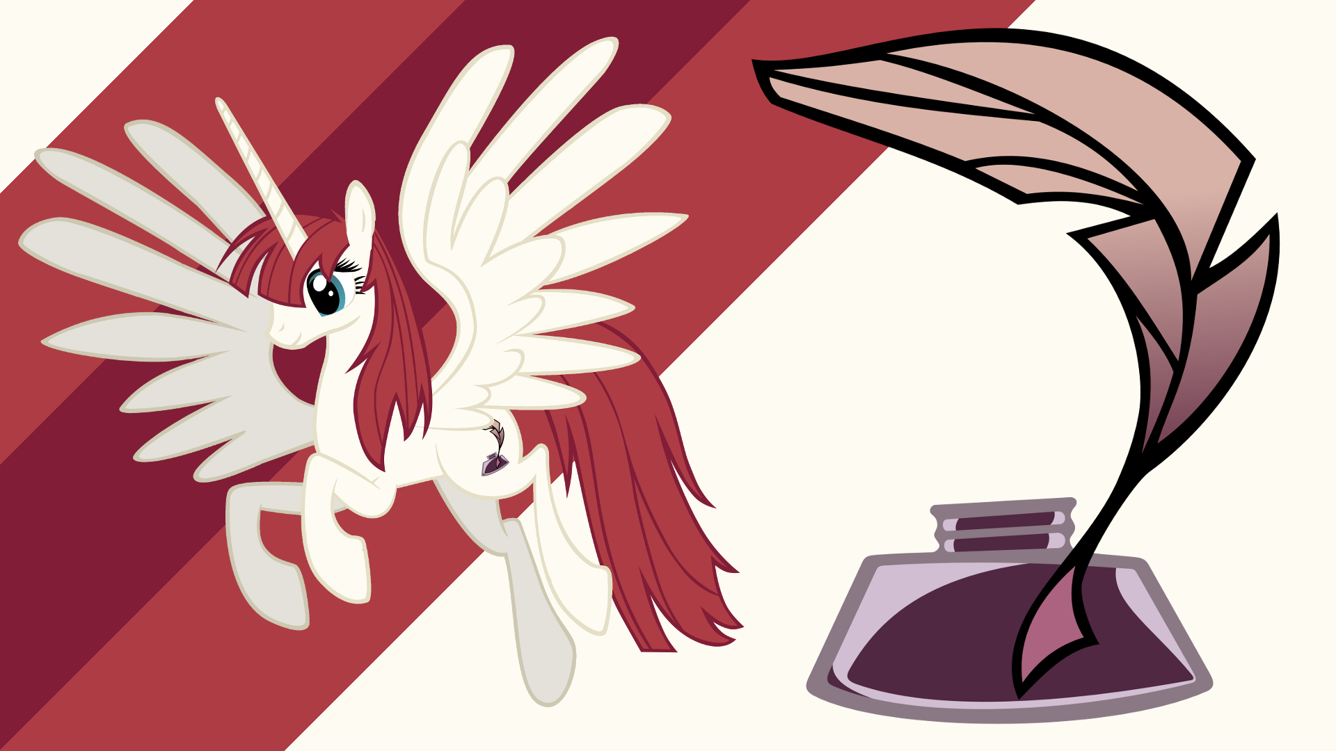 Minimalist Wallpaper 40: Lauren Faust by iBringThaZelc, Softfang and The-Smiling-Pony