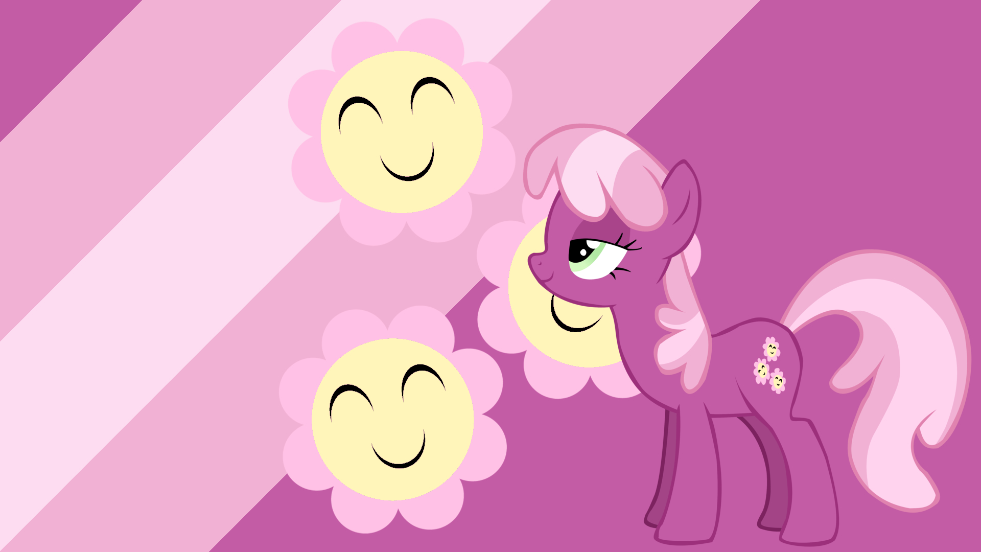 Minimalist Wallpaper 24: Cheerilee by InvaderLiz-TheCat, ooklah and Softfang