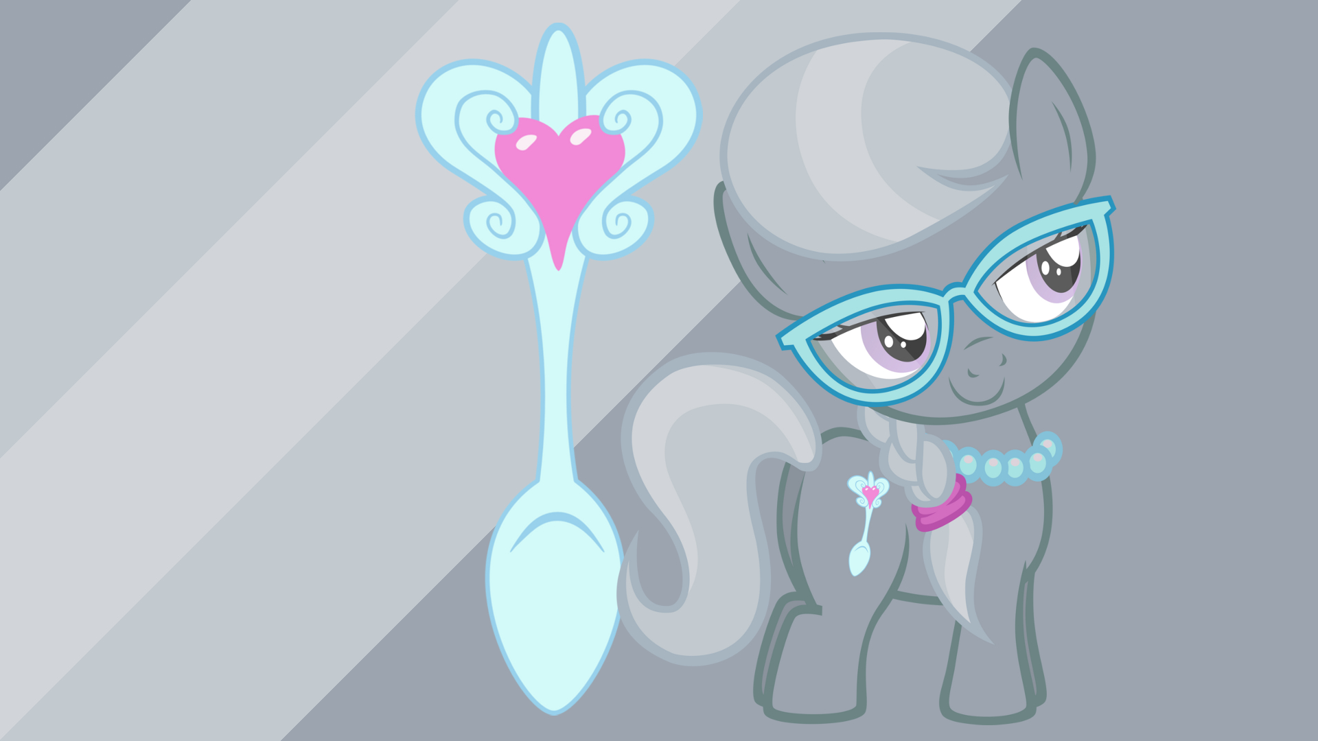 Minimalist Wallpaper 39: Silver Spoon by miketueur, Softfang and The-Smiling-Pony