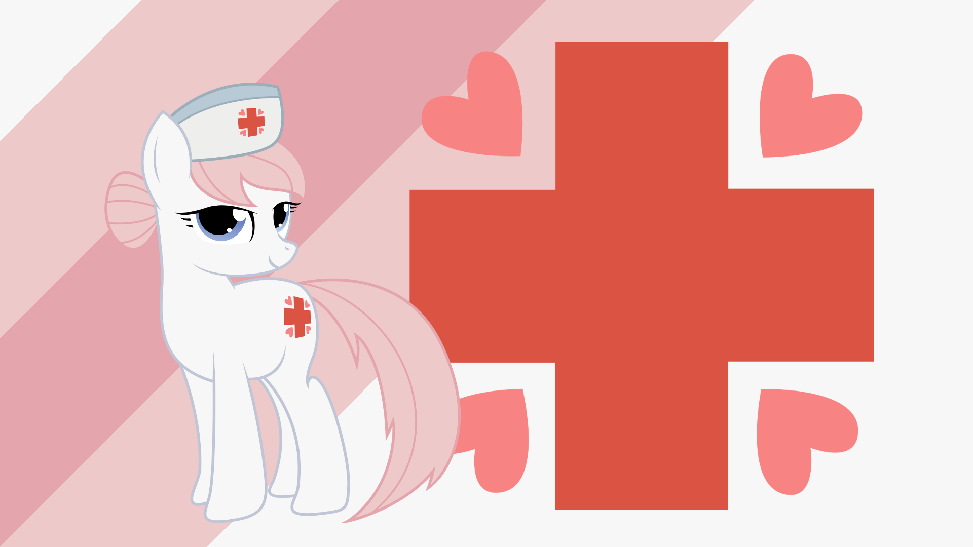 Minimalist Wallpaper 47: Nurse Redheart by Kooner-cz, Softfang and The-Smiling-Pony