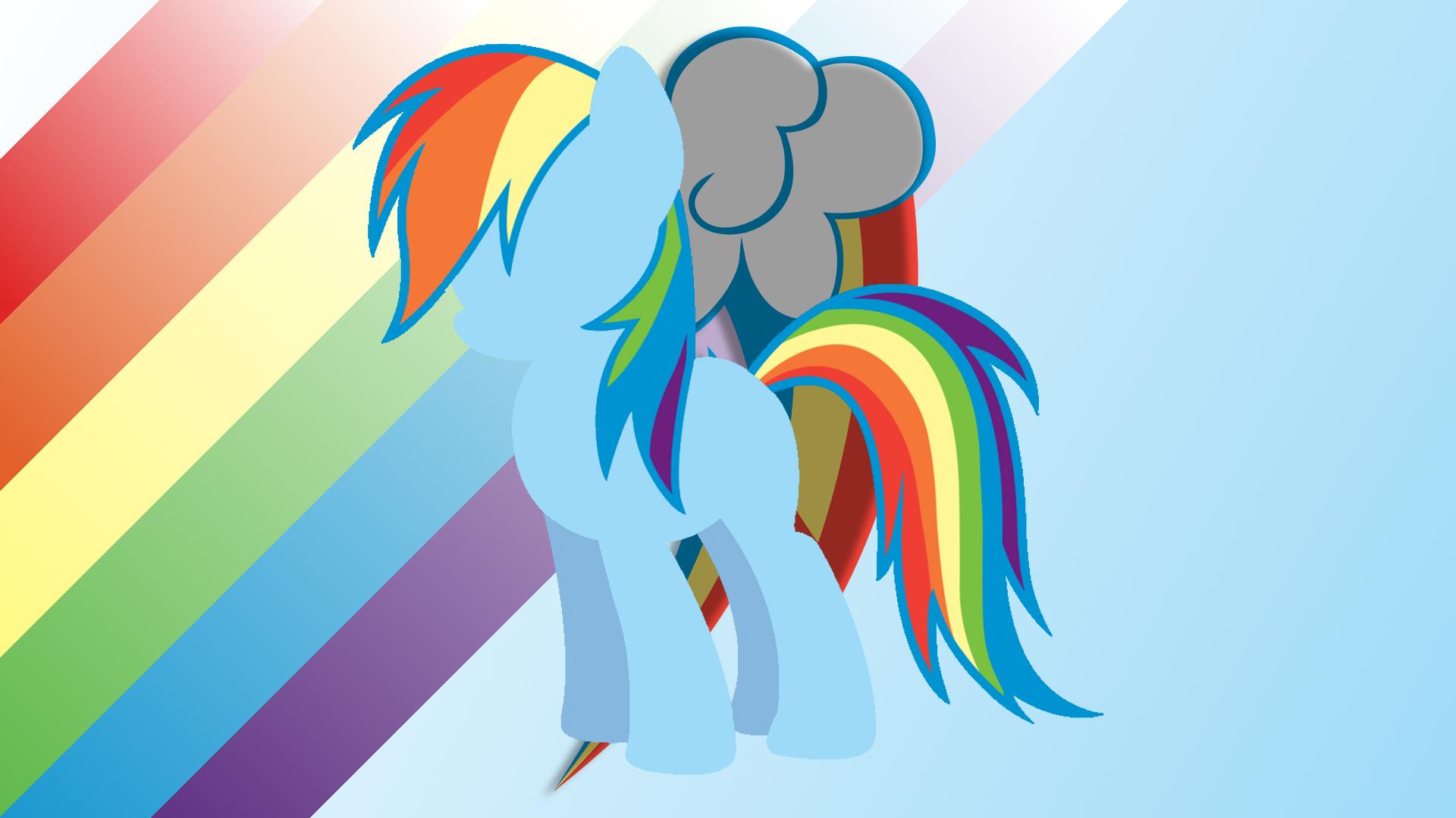 Minimalist Wallpaper 70: Rainbow Dash v2 by BlackGryph0n, geekywebman and Softfang