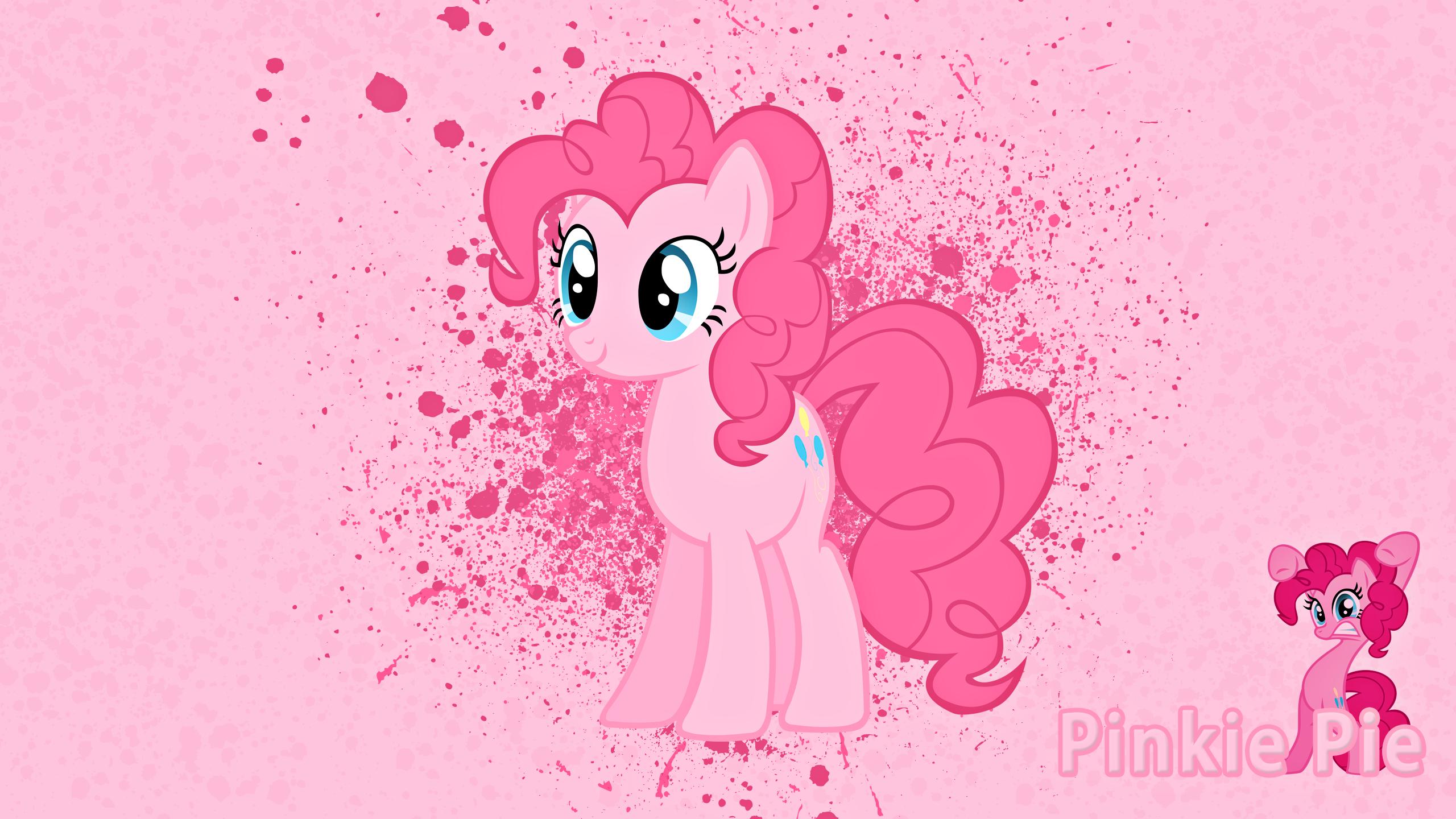 Pinkie Pie Ink Splatter Wallpaper by alanfernandoflores01 and Peachspices