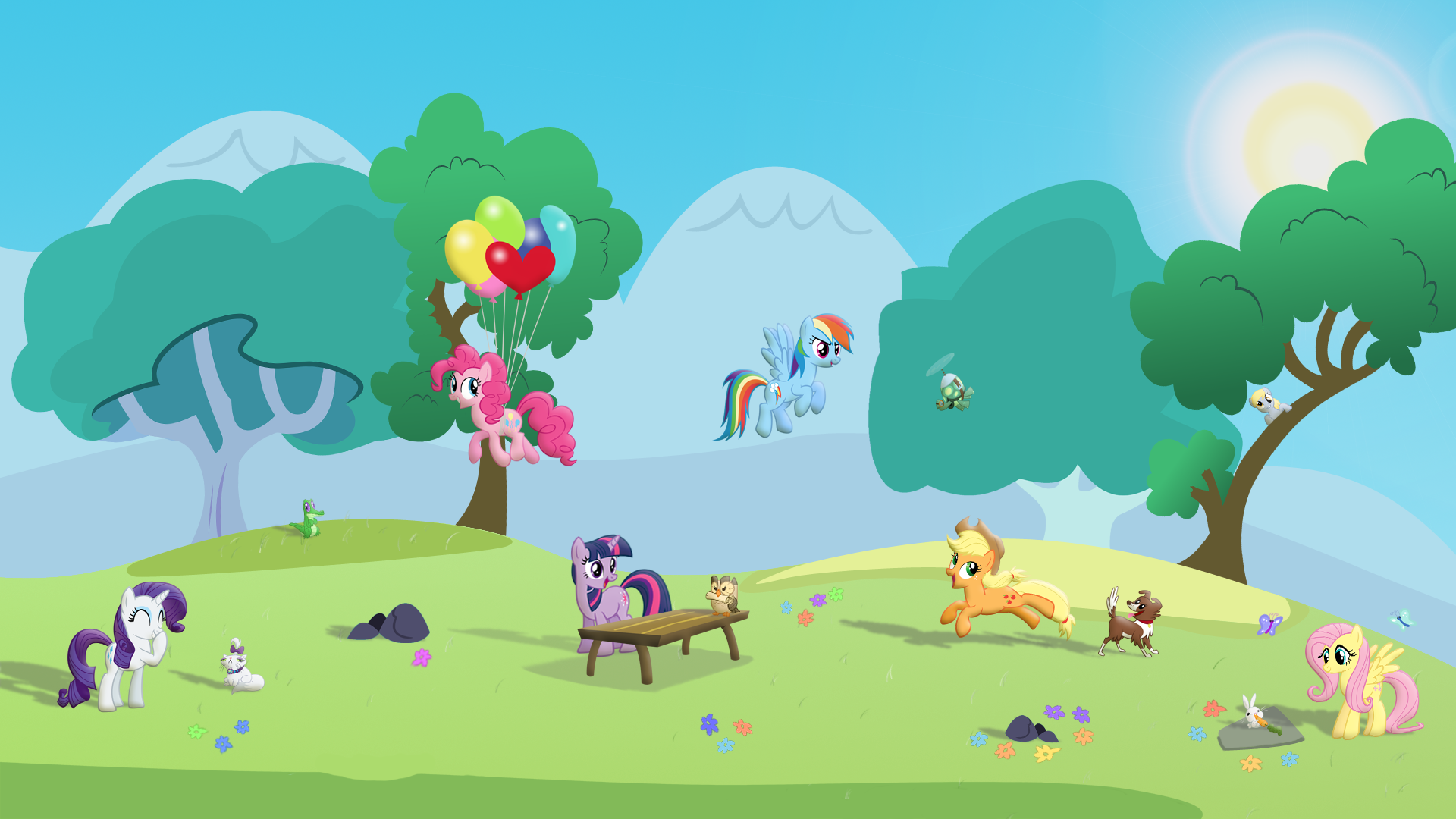 Pony Pet Play Date - Wallpaper by GrugDude