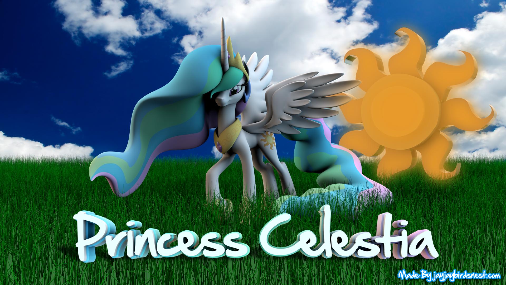 Princess Celestia 3D Wallpaper
