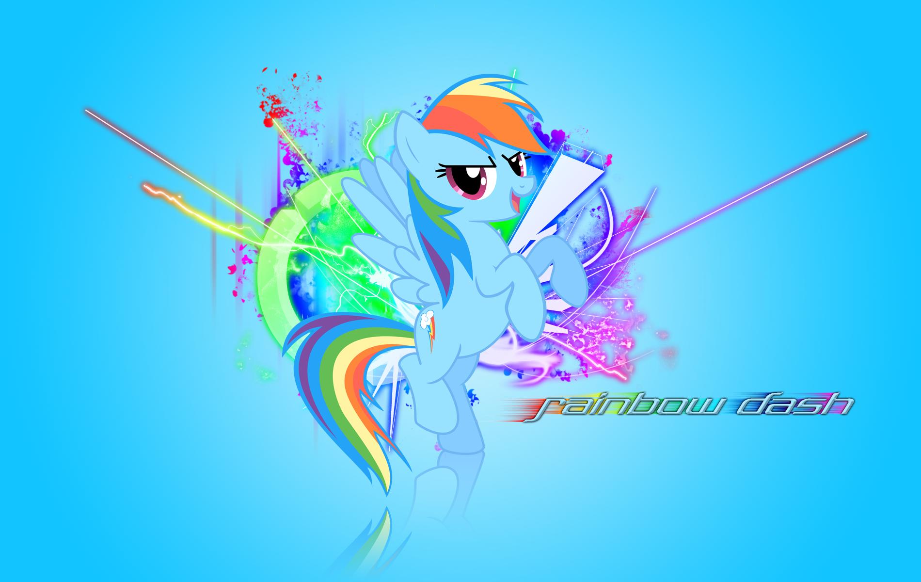 Rainbow Dash Wallpaper by Nethear and Vexx3