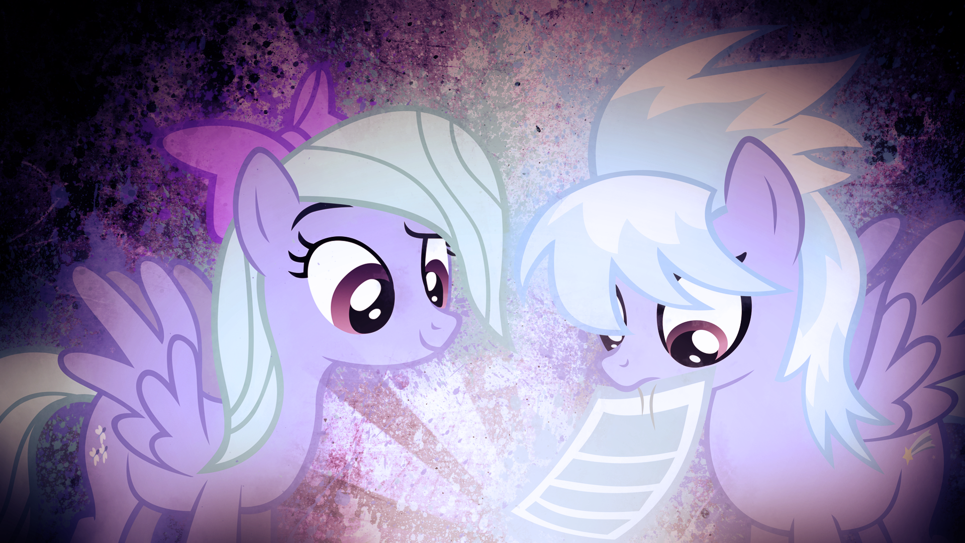 Flitter and Cloudchaser Wallpaper-Delta105 Collab by BakaBrony, ikillyou121, SandwichDelta and TygerxL