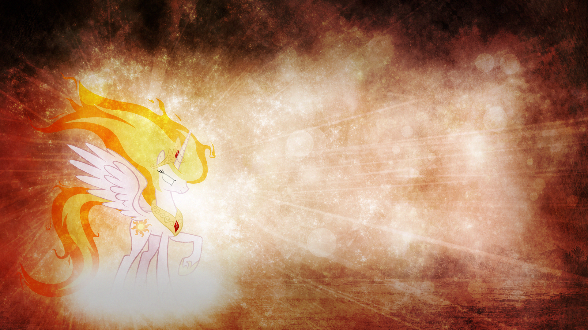 Wallpaper - Fire Celestia by Mackaged and Qsteel