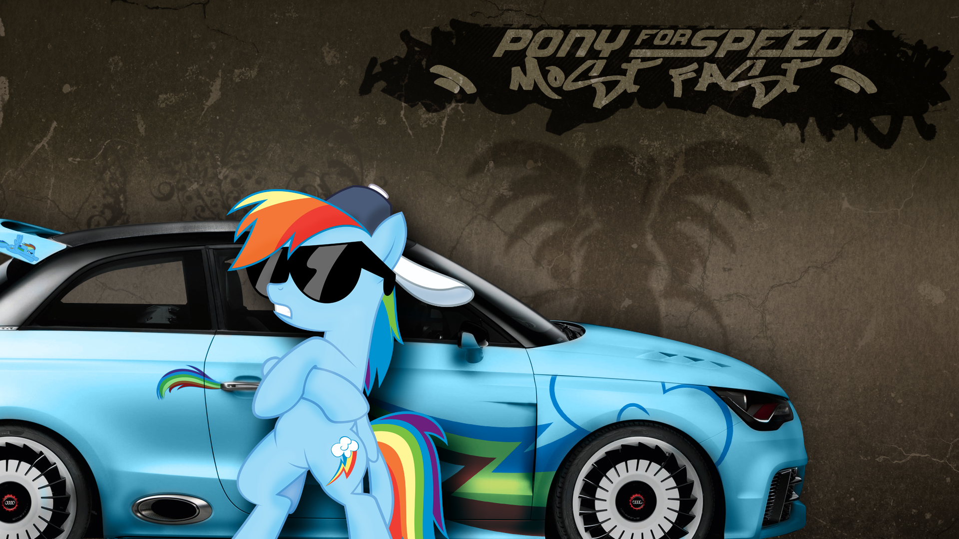 Wallpaper Crossover - PFS Most Fast by BlackGryph0n, EROCKERTORRES, kitsuneymg, Mackaged, NightmareMoonS and Peachspices