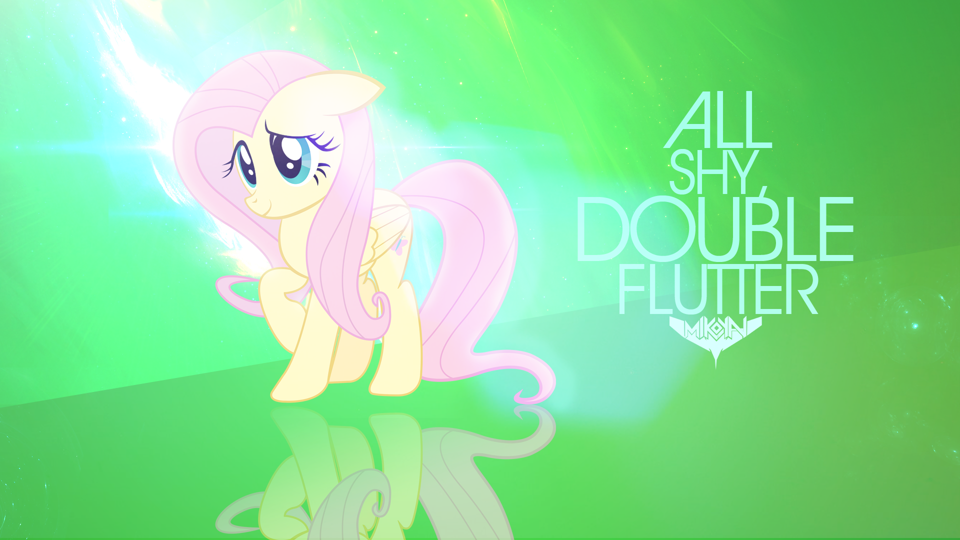MANE 6 Wallpaper #4: Fluttershy by MikoyaNx and Peachspices