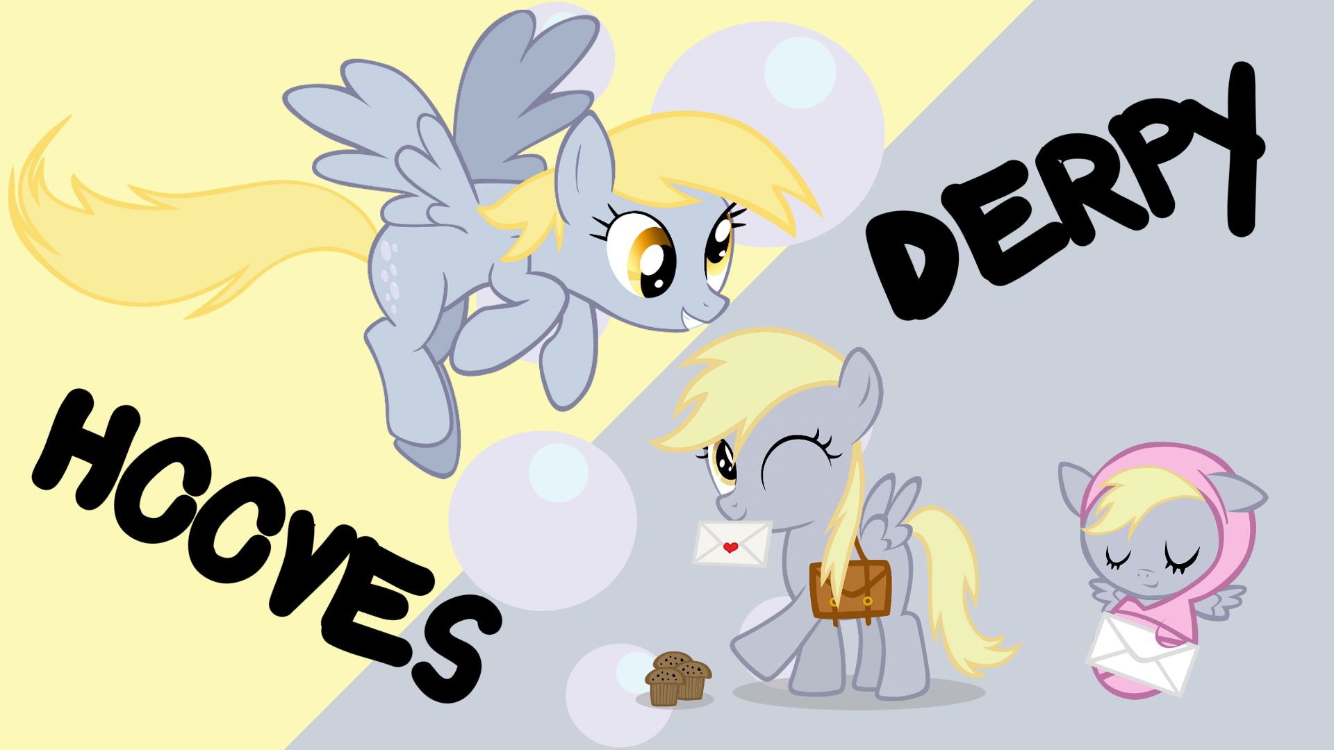 Mane Six Ages (Extra): Derpy Hooves by atnezau, Blackm3sh, Calumoninc, ooklah and Softfang