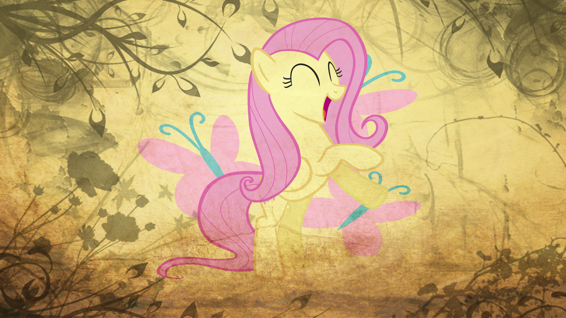 Fluttershy and Cutie Mark by BlackGryph0n, greseres and Sir-Szengelot
