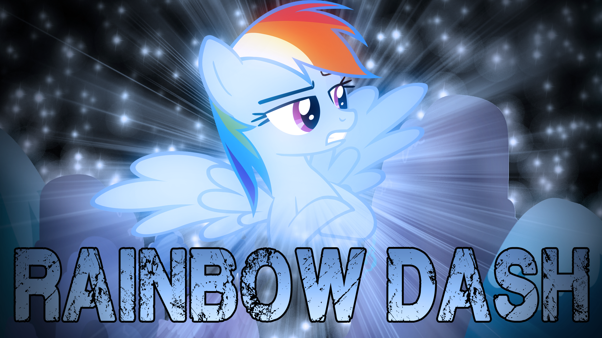 Rainbow Dash Wallpaper by TygerxL and Vexorb