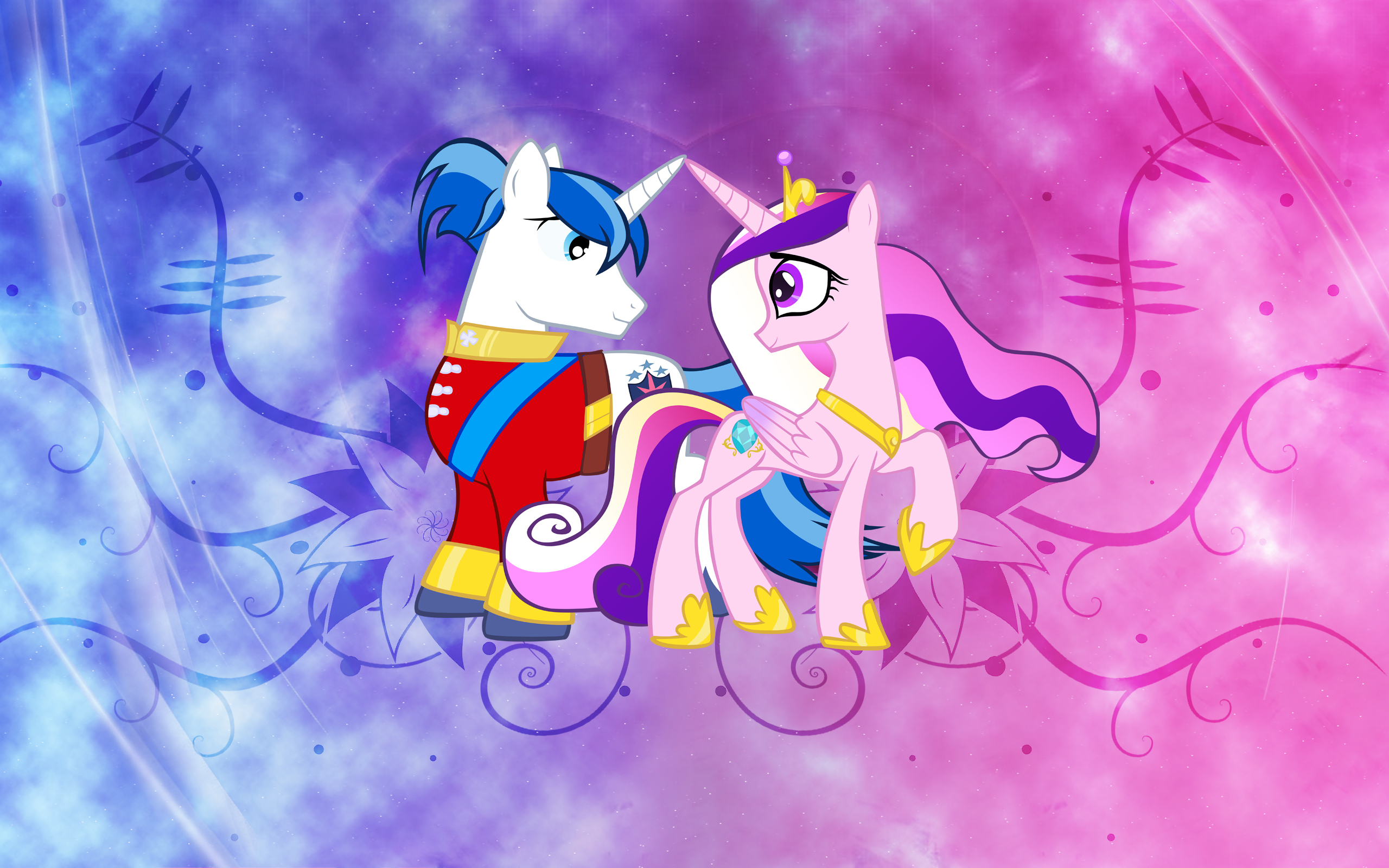Shining and Cadence Wallpaper by arcticjuniper, Epic-Panda17 and Saeiter