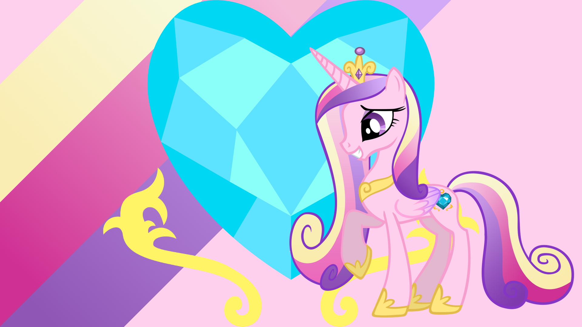 Minimalist Wallpaper 82: Princess Cadance by DraikJack, Softfang and ZuTheSkunk