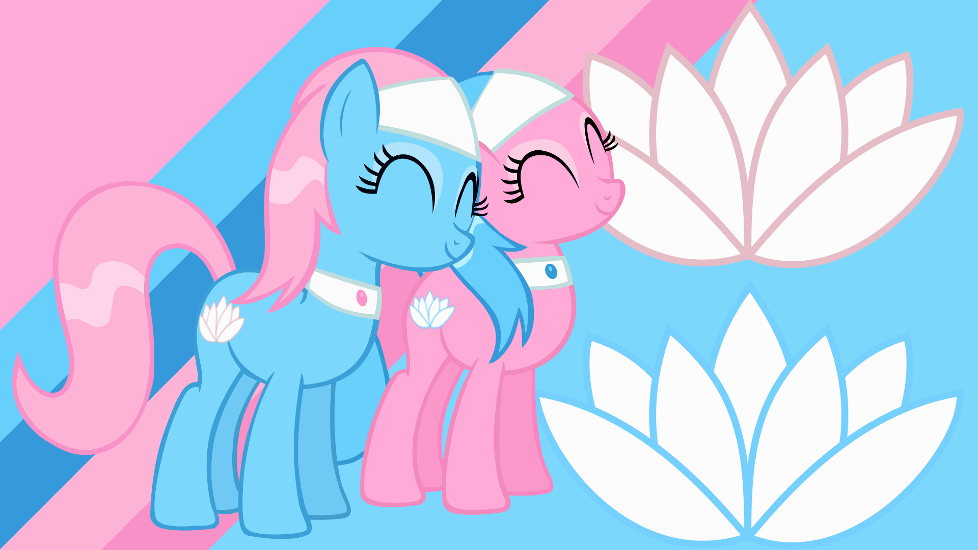 Minimalist Wallpaper 86: Aloe and Lotus by PDPie, Softfang and The-Smiling-Pony