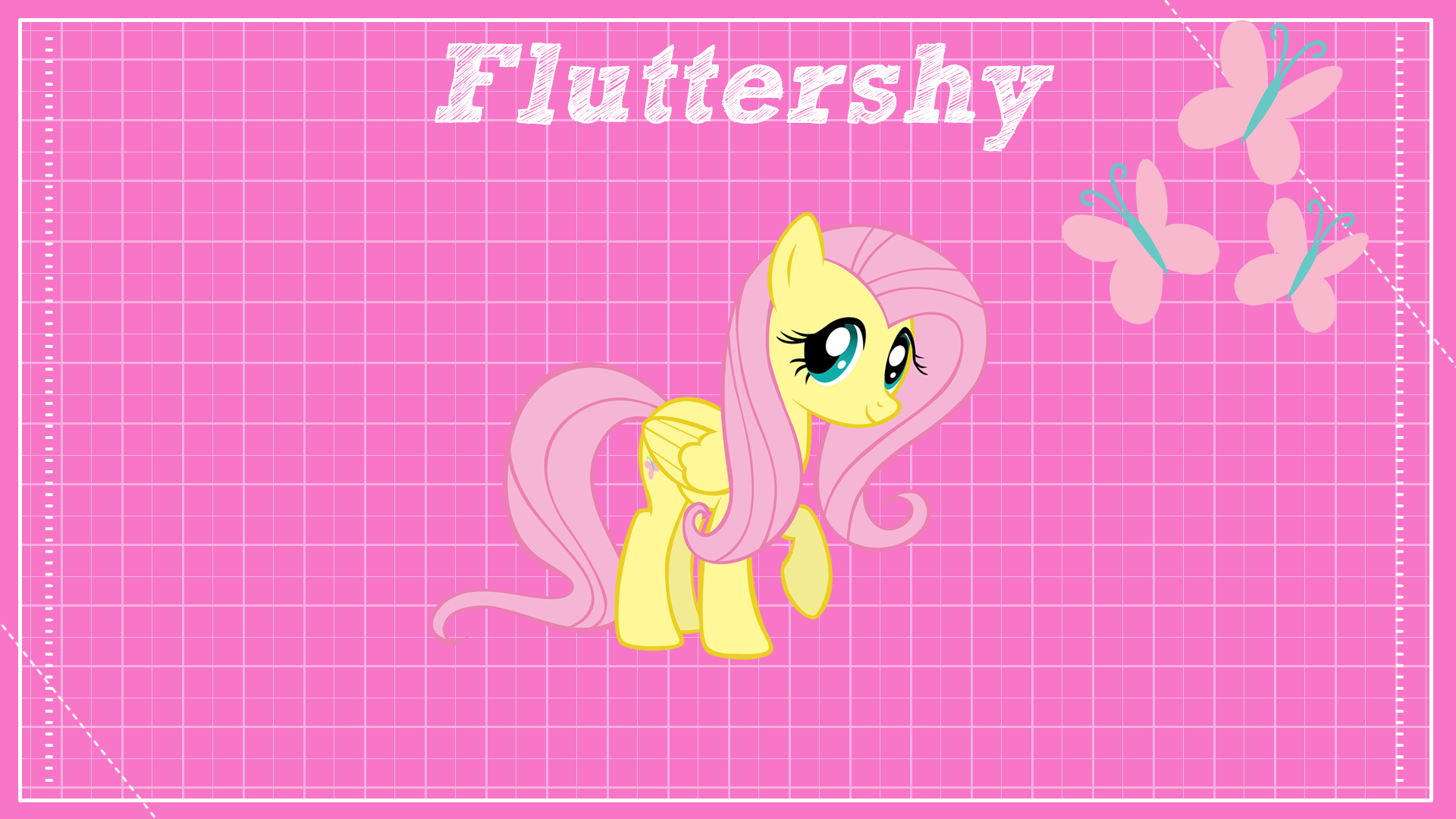 Fluttershy Design Clear by BlackGryph0n, ikonradx and Takua770