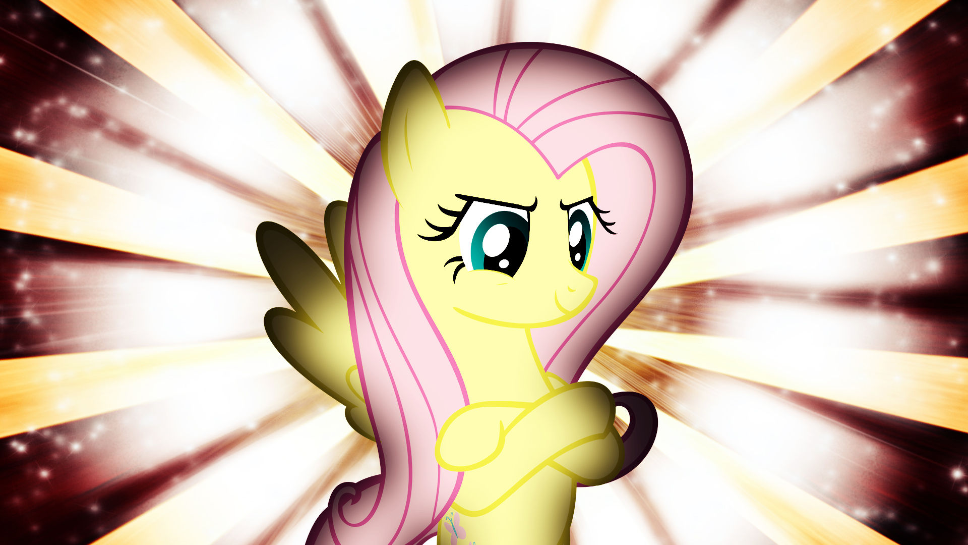 Fluttershy Wallpaper by ThatsGrotesque and TygerxL