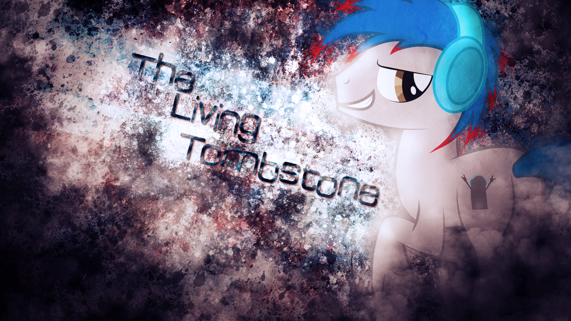 The Living Tombstone by Emkay-MLP and SandwichDelta