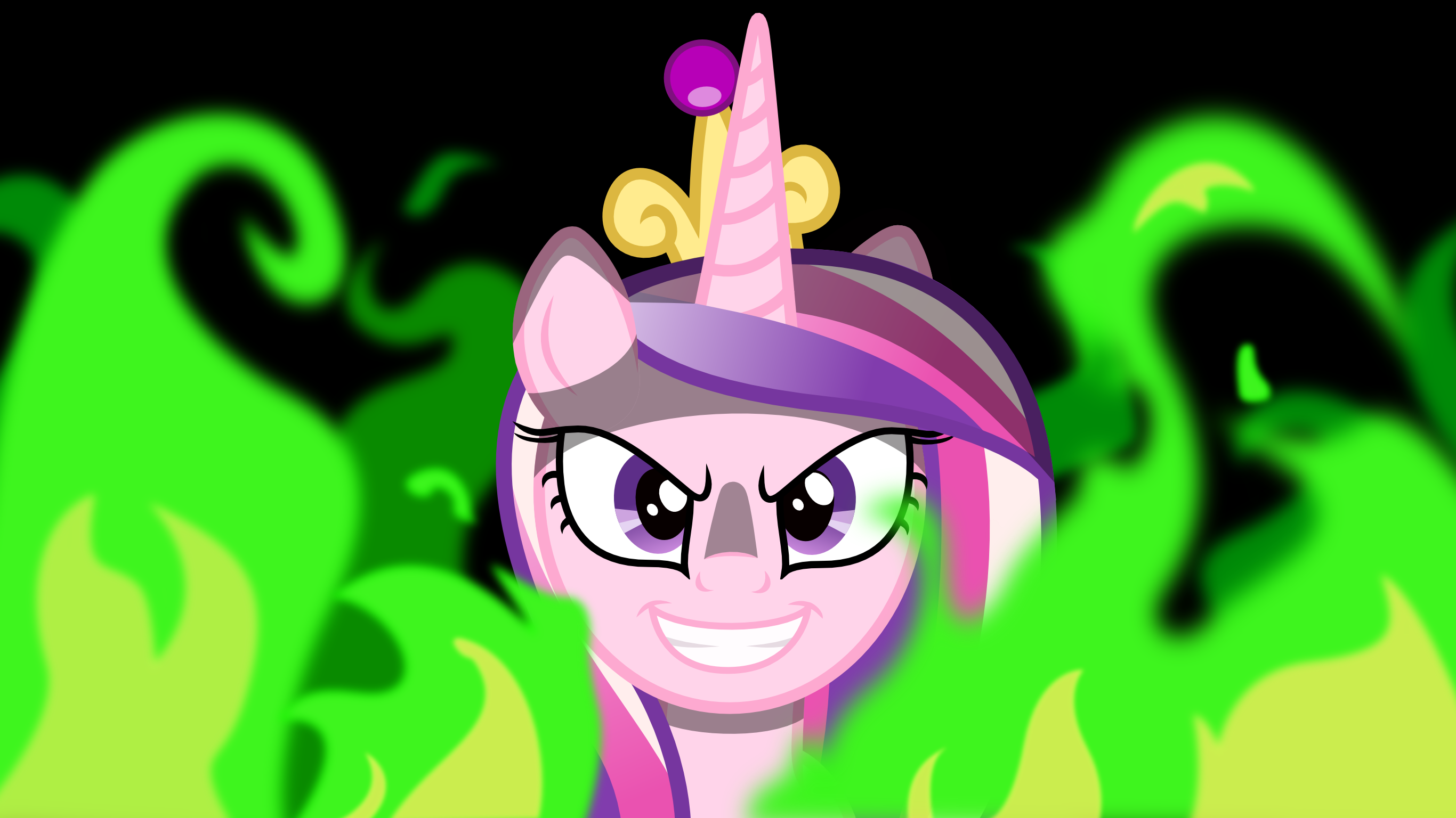 Evil Cadence in Flames wallpaper by MyLittlePinkieDash