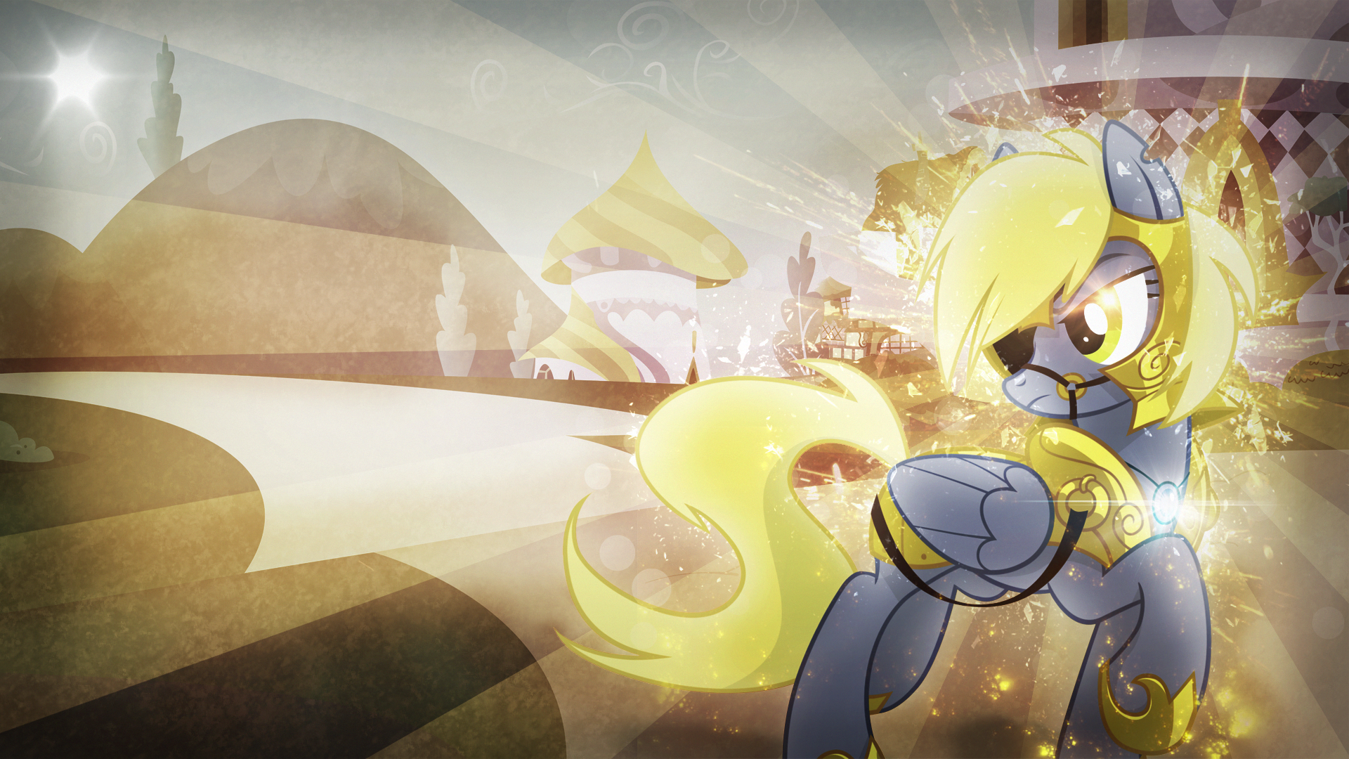 Wallpaper ~ General Derpy. by Equestria-Prevails, kenrick55, Mackaged and Trotsworth
