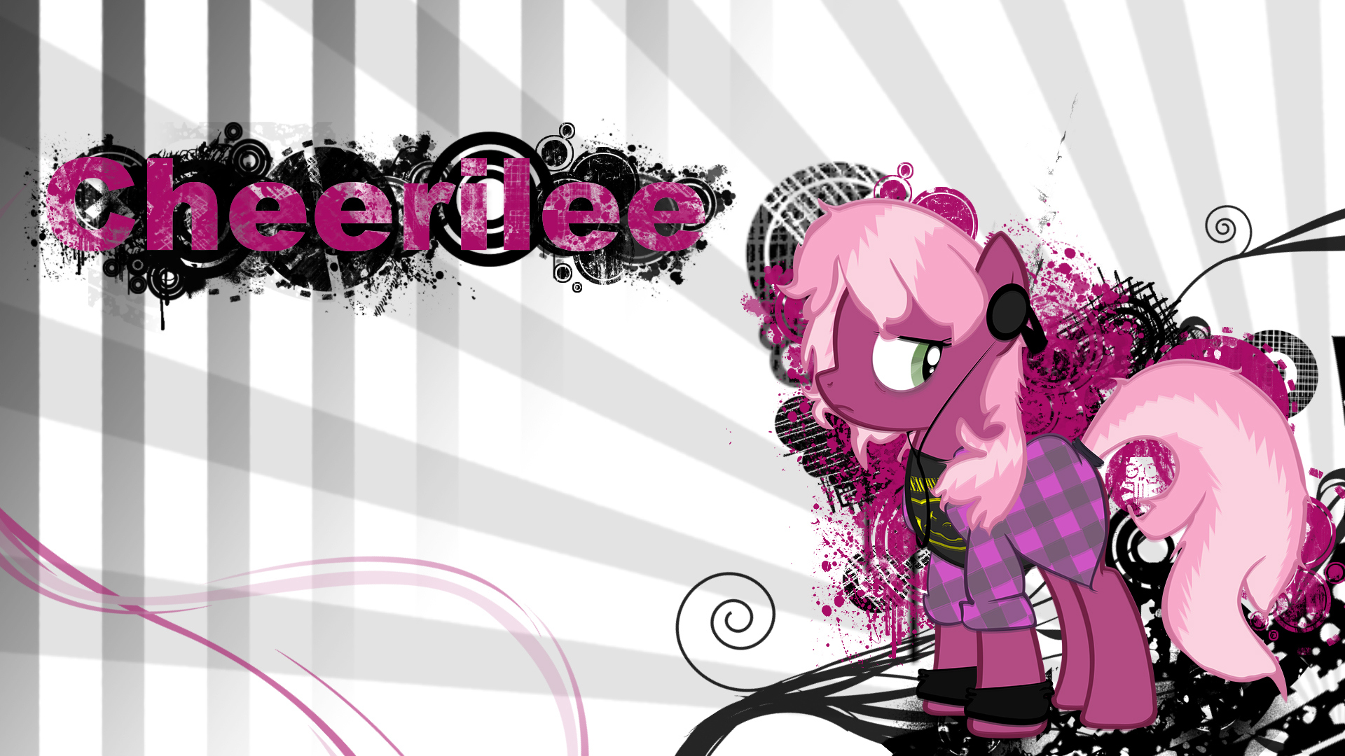 Cheerliee Grunge Wallpaper by TheSlickOctopus