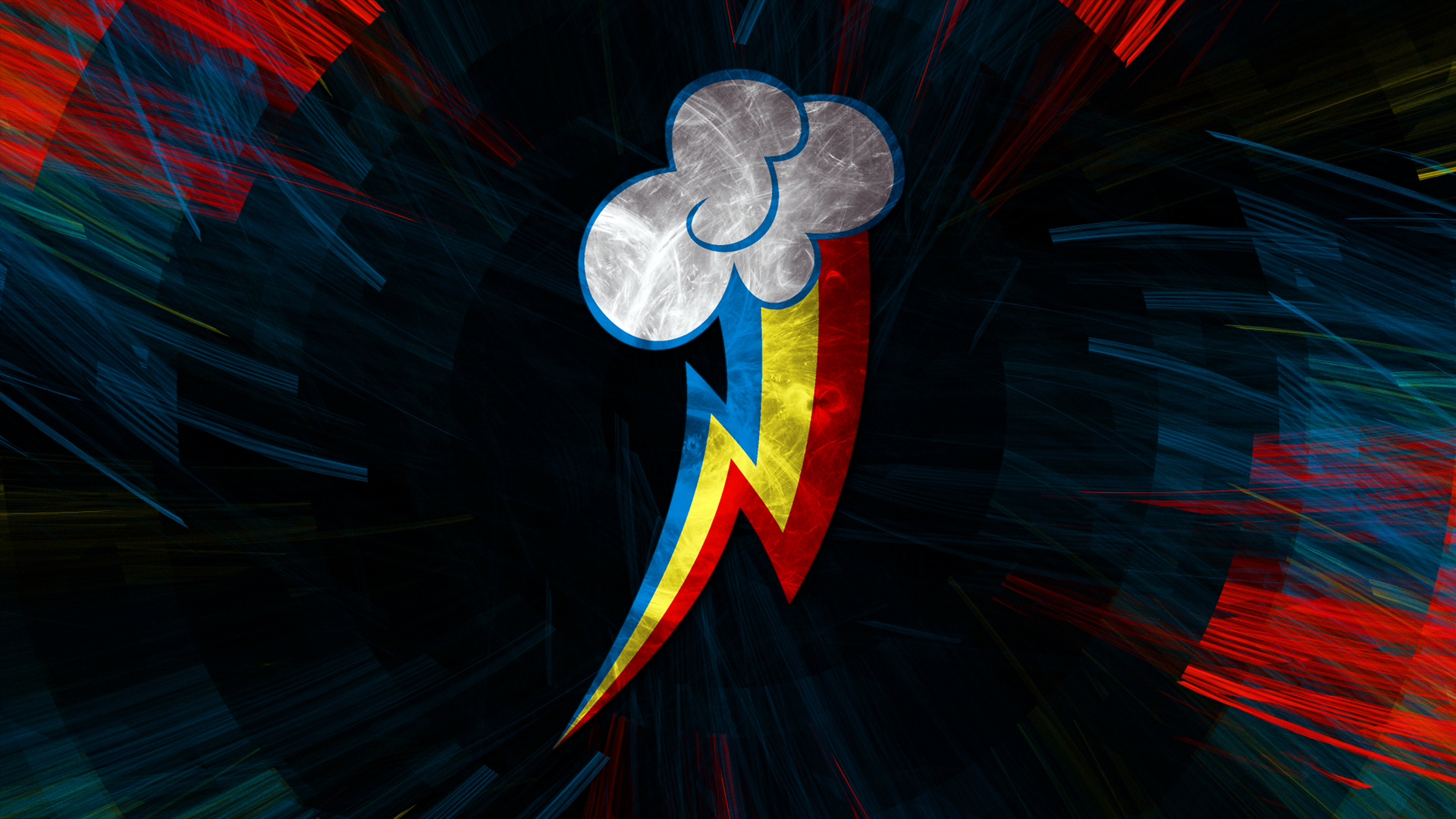Fractal Effect Cutie Mark Wallpaper Rainbow Dash By Uxyd My